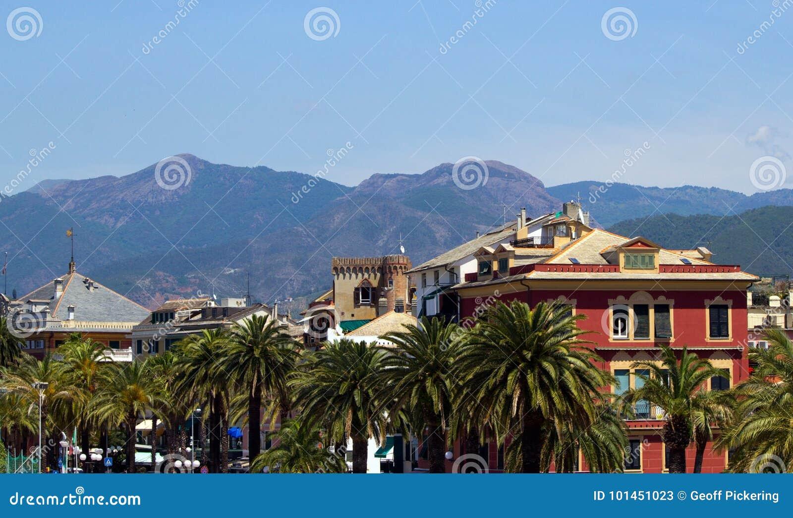 För liguria för destinationsitaly levante turist för sestri region