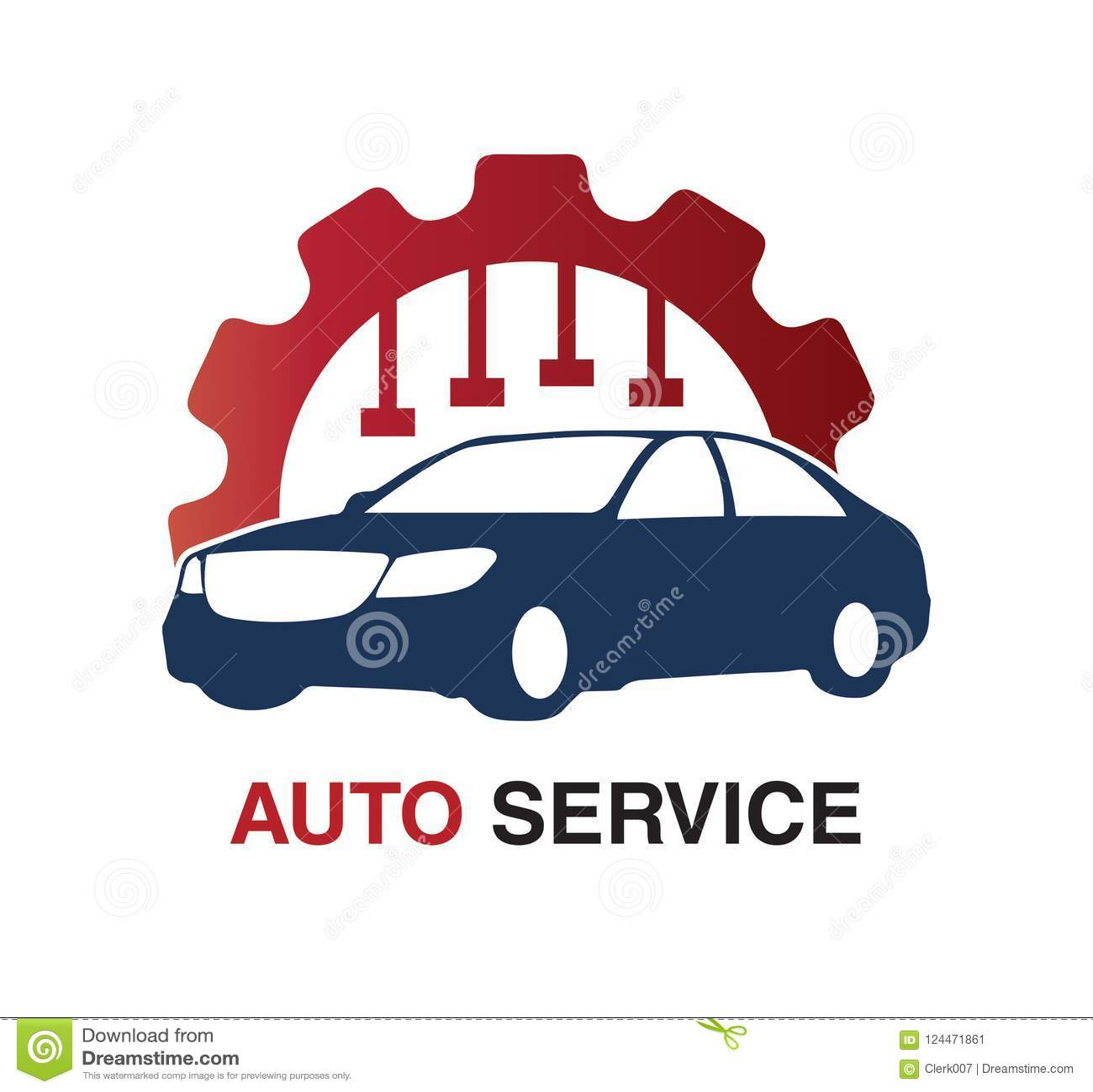 För logodesign för automatisk tjänste- begrepp
