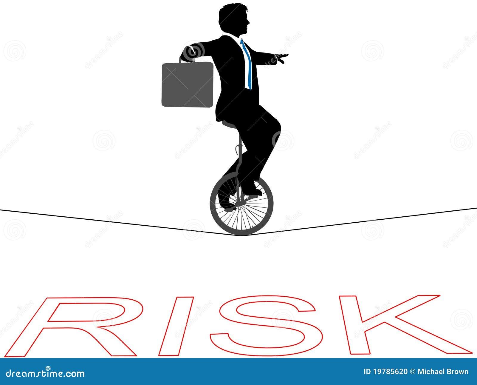 För manrisk för affär finansiell enhjuling för tightrope