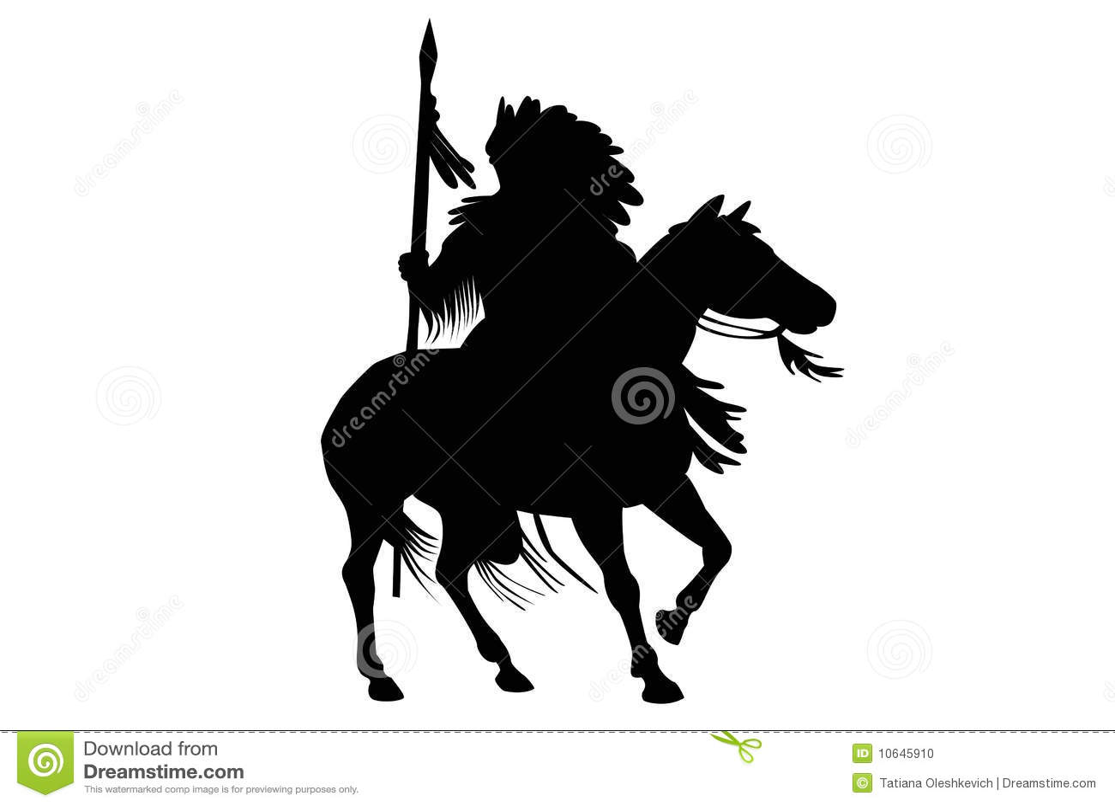 För mansilhouette för häst indisk sitting