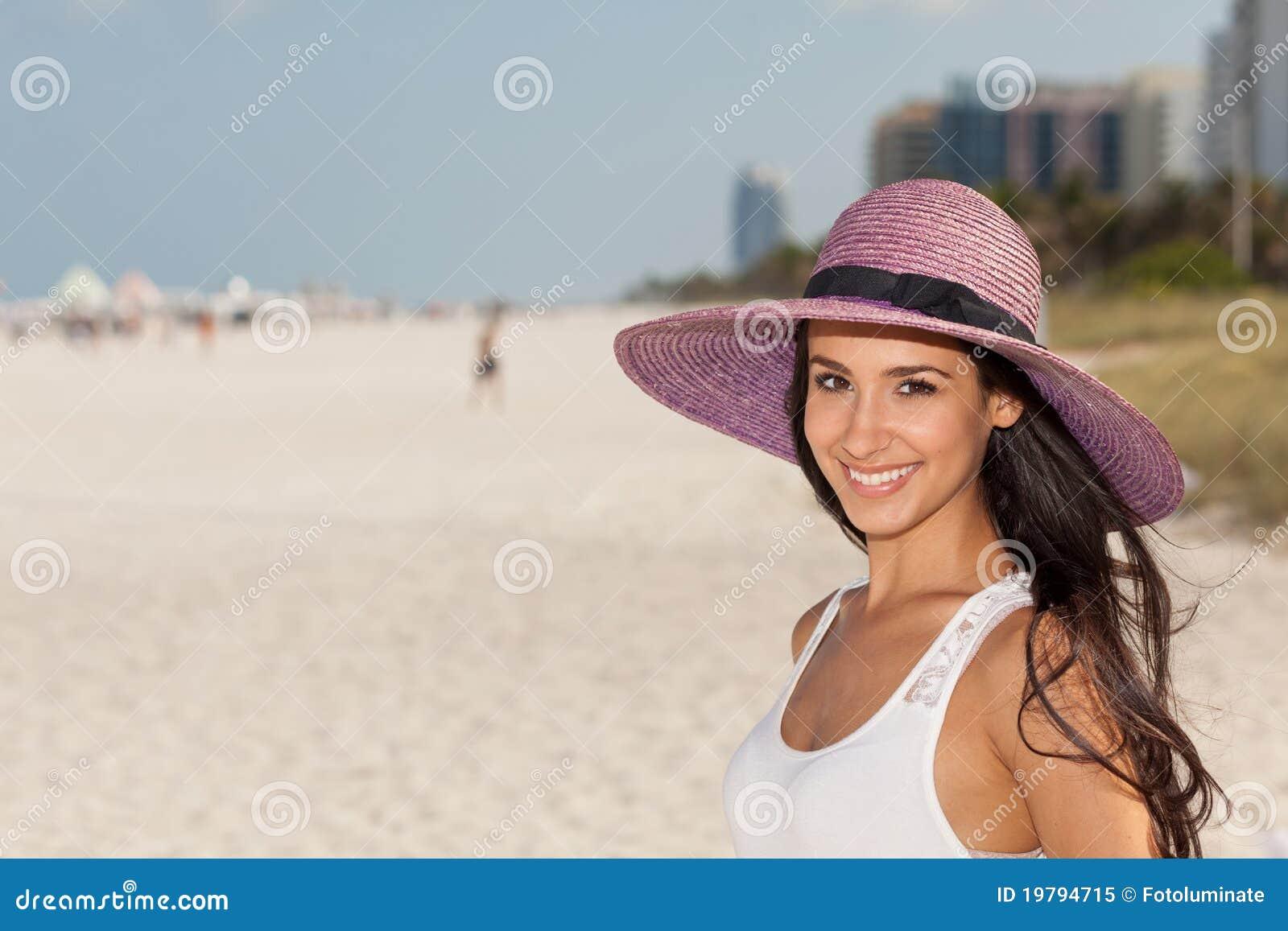 För miami för strand härligt barn kvinna
