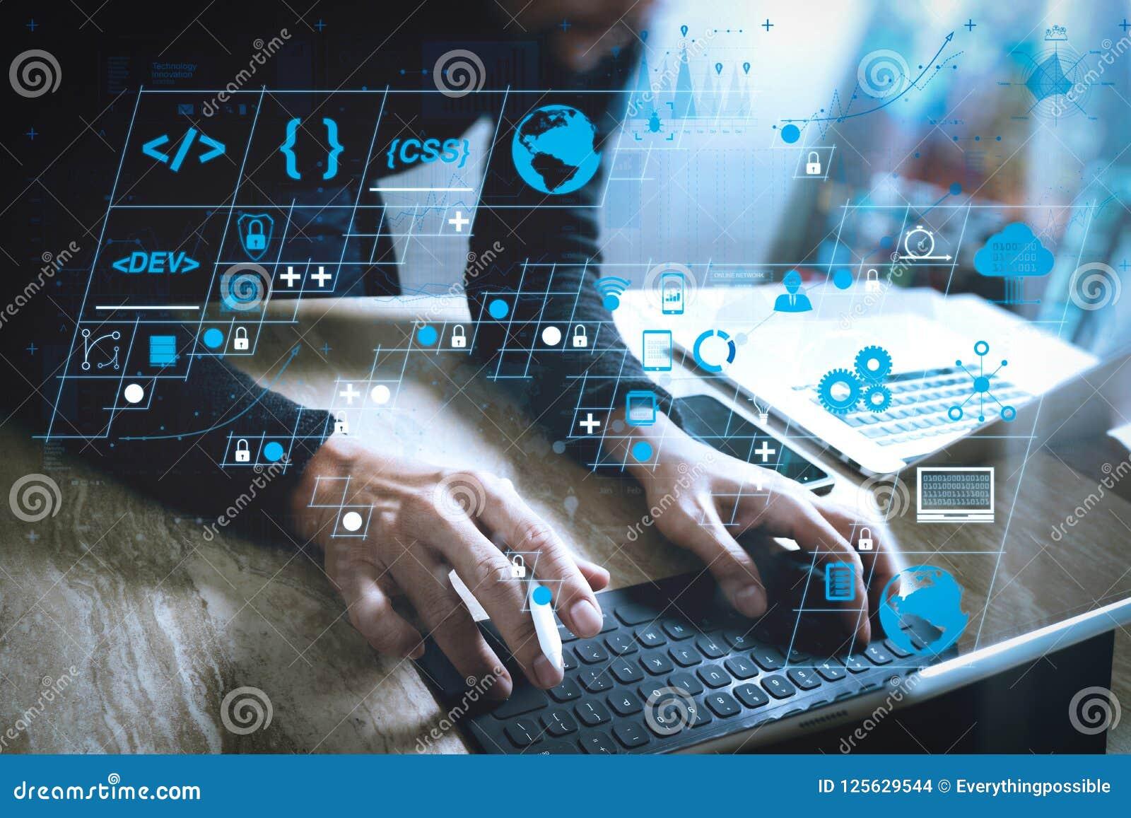 För minnestavlaskeppsdocka för Website märkes- funktionsdugligt digitalt tangentbord och comput