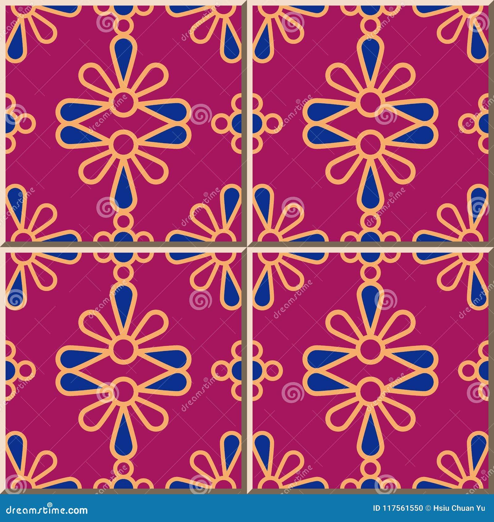 För modellrunda för keramisk tegelplatta kronblad för kors för kurva blommar färgrika