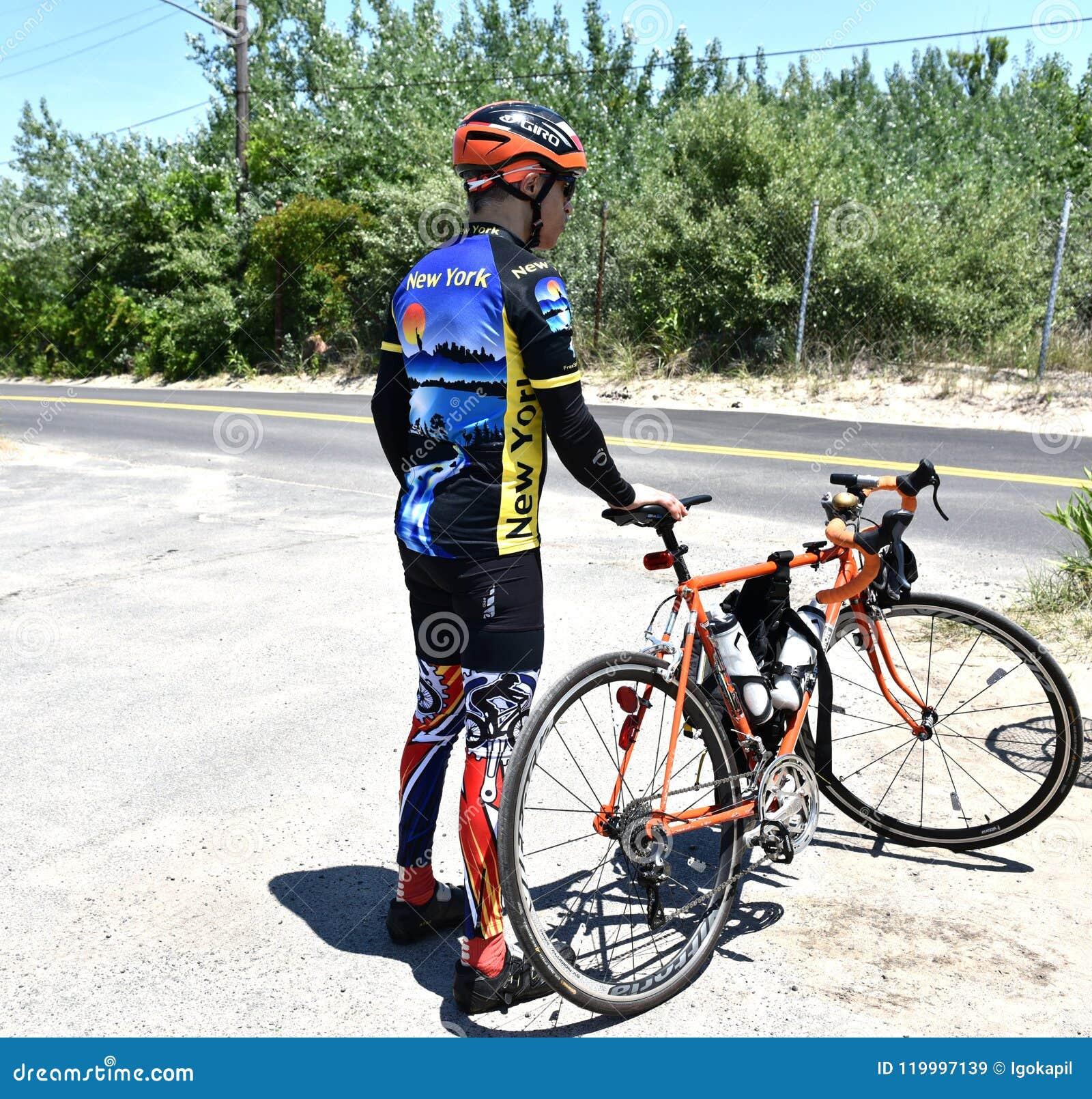 För New York för flyktcykelritt kläder för cirkulering design