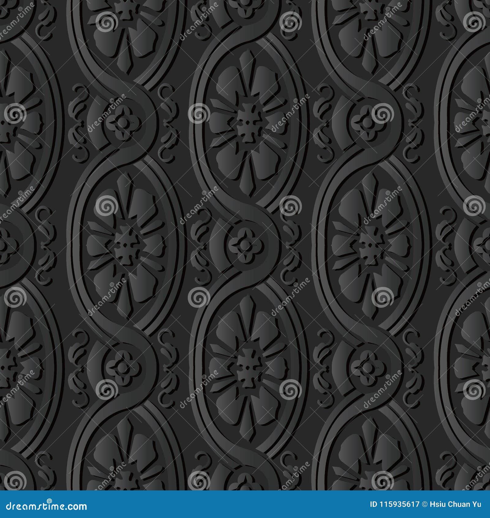 För papperskonst för mörker 3D blomma för arg vinranka för kurva för spiral för Oval