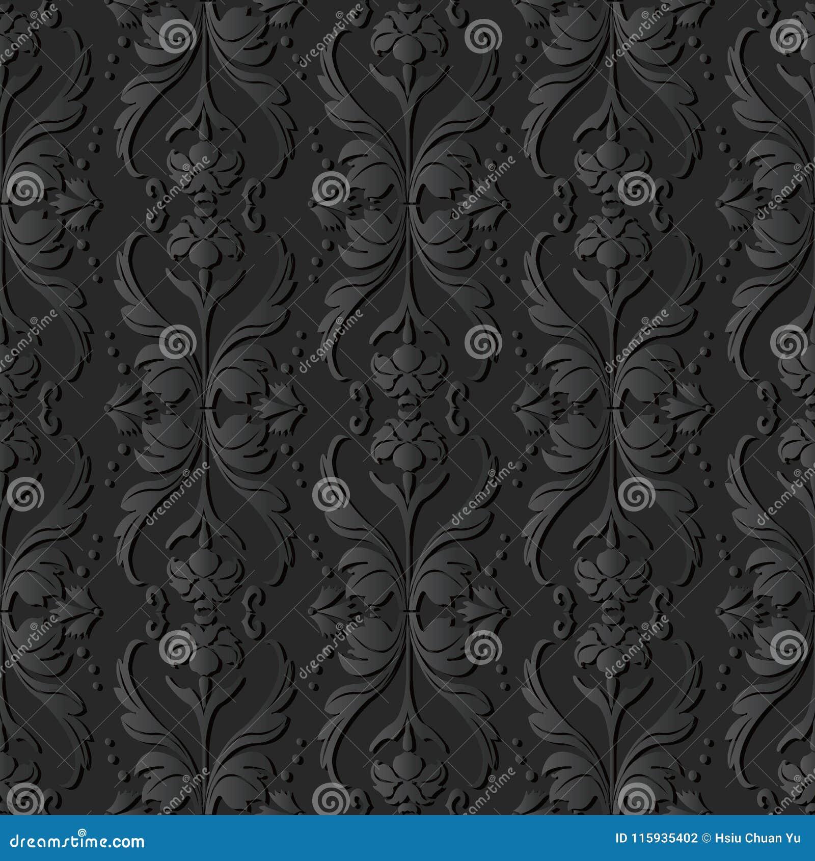 För papperskonst för mörker 3D kors Dot Line Leaf Flower för våg för kurva