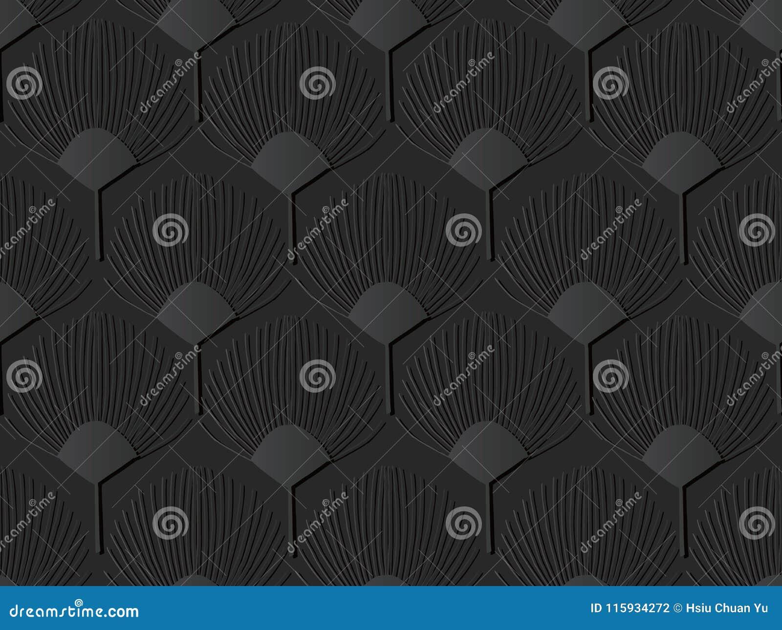 För papperskonst för mörker 3D för Shape för fan blomma natur