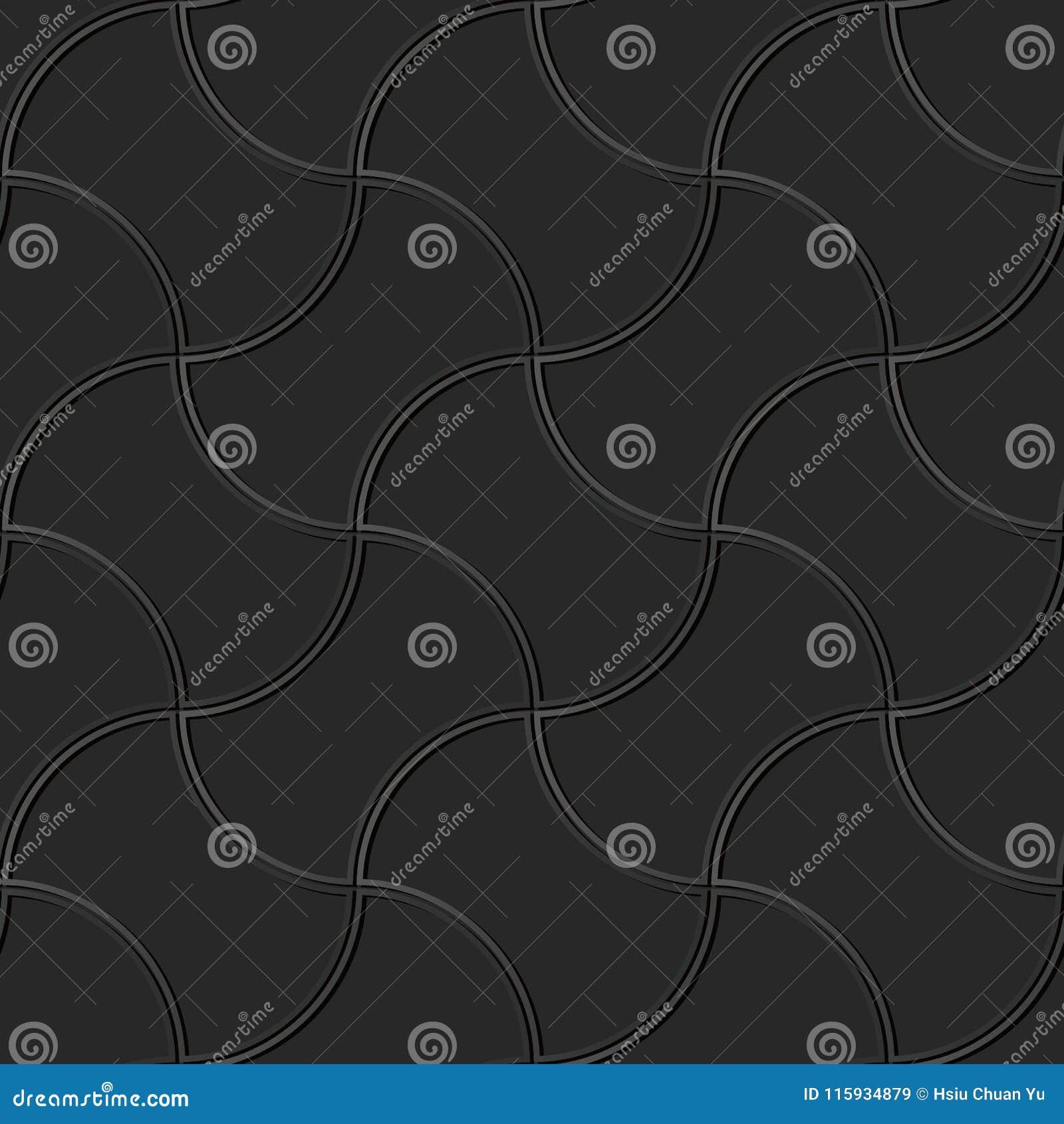För papperskonst för mörker 3D tegelsten för ram för geometri för kors för kurva
