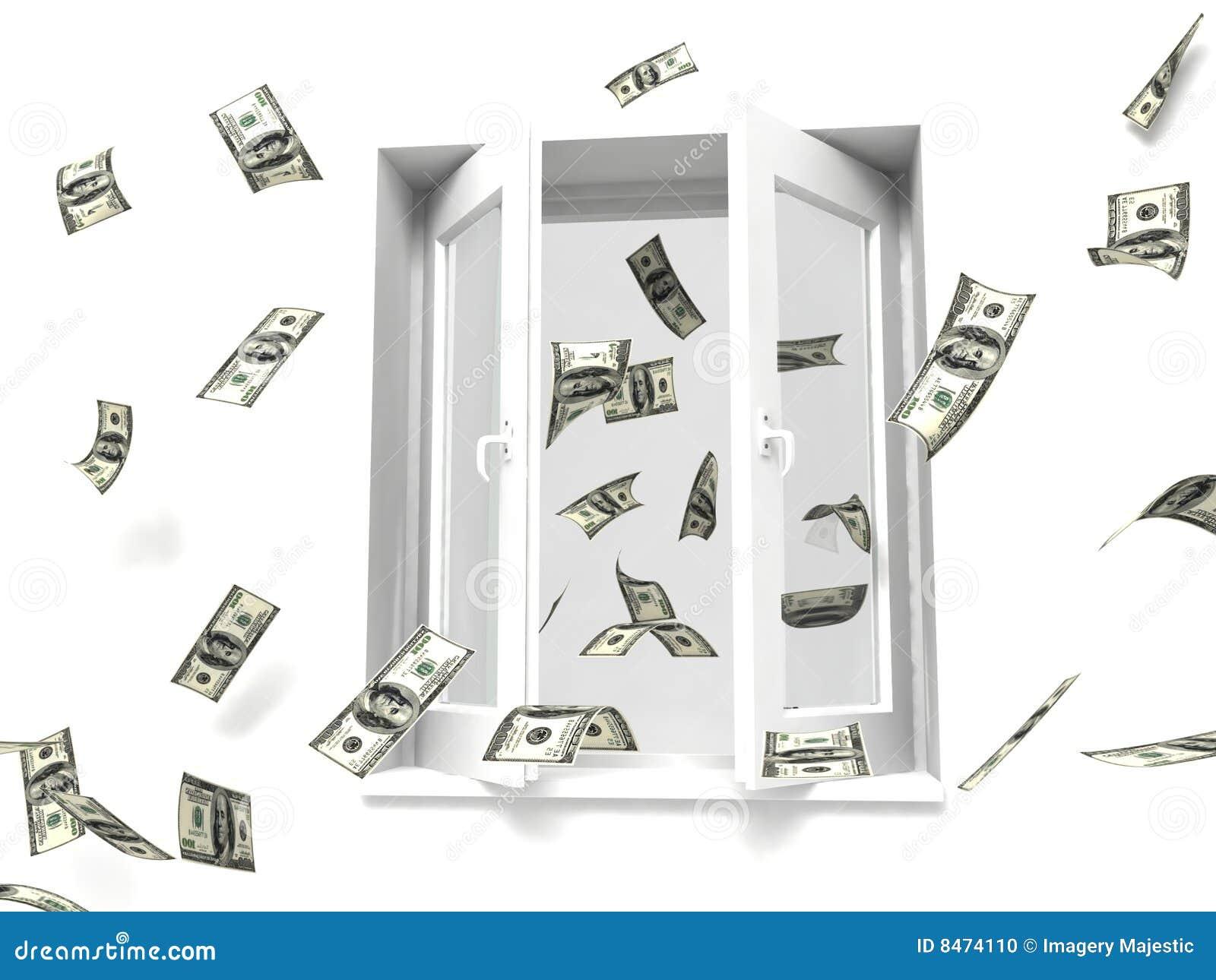 För pengar fönster ut
