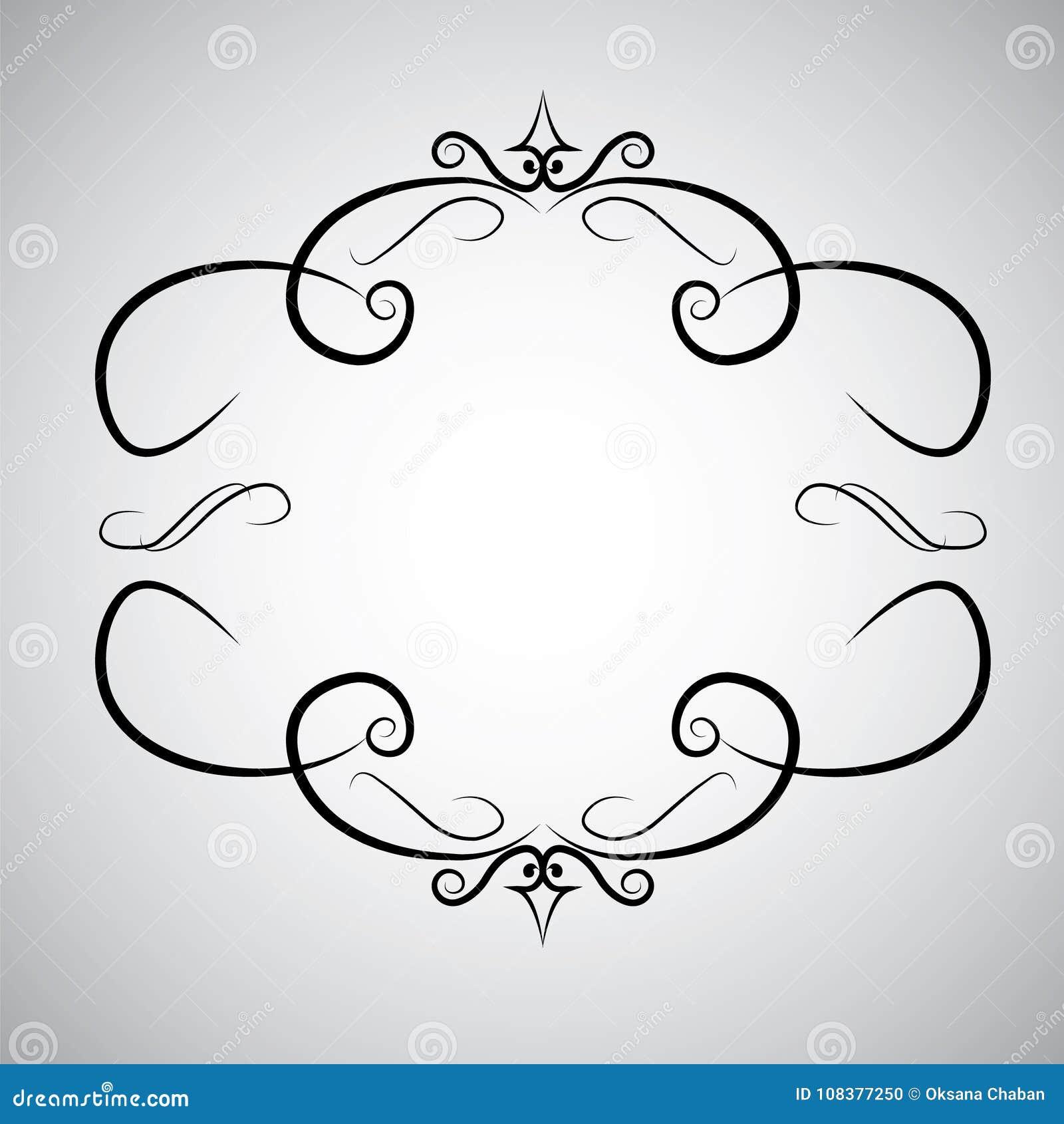 För ramsnirkel för tappning virvel för lövverk för acanthus för stil för barock för prydnad för gravyr modell för gräns blom- ret