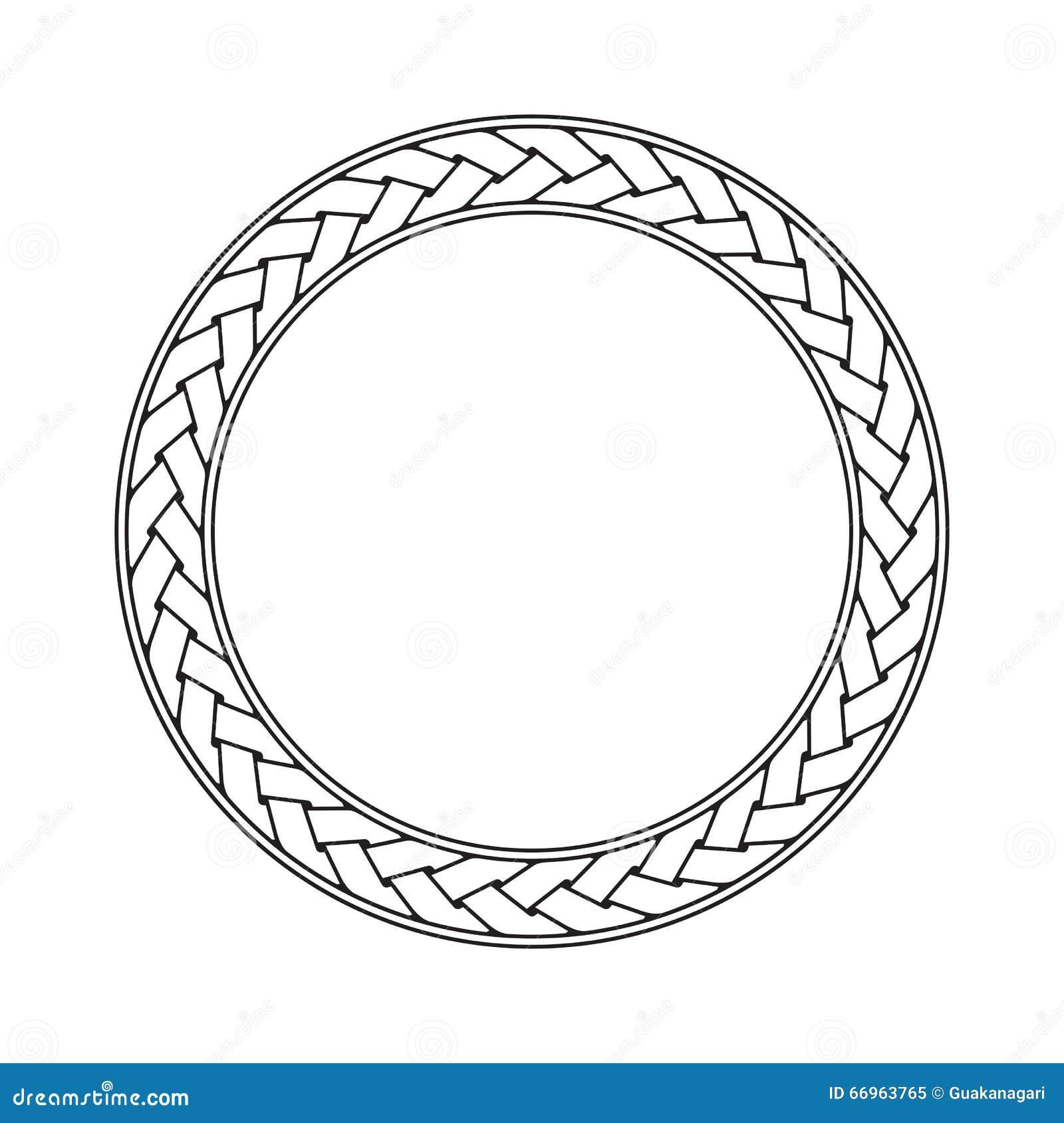 För ramvektor för keltisk flätad tråd rund prydnad