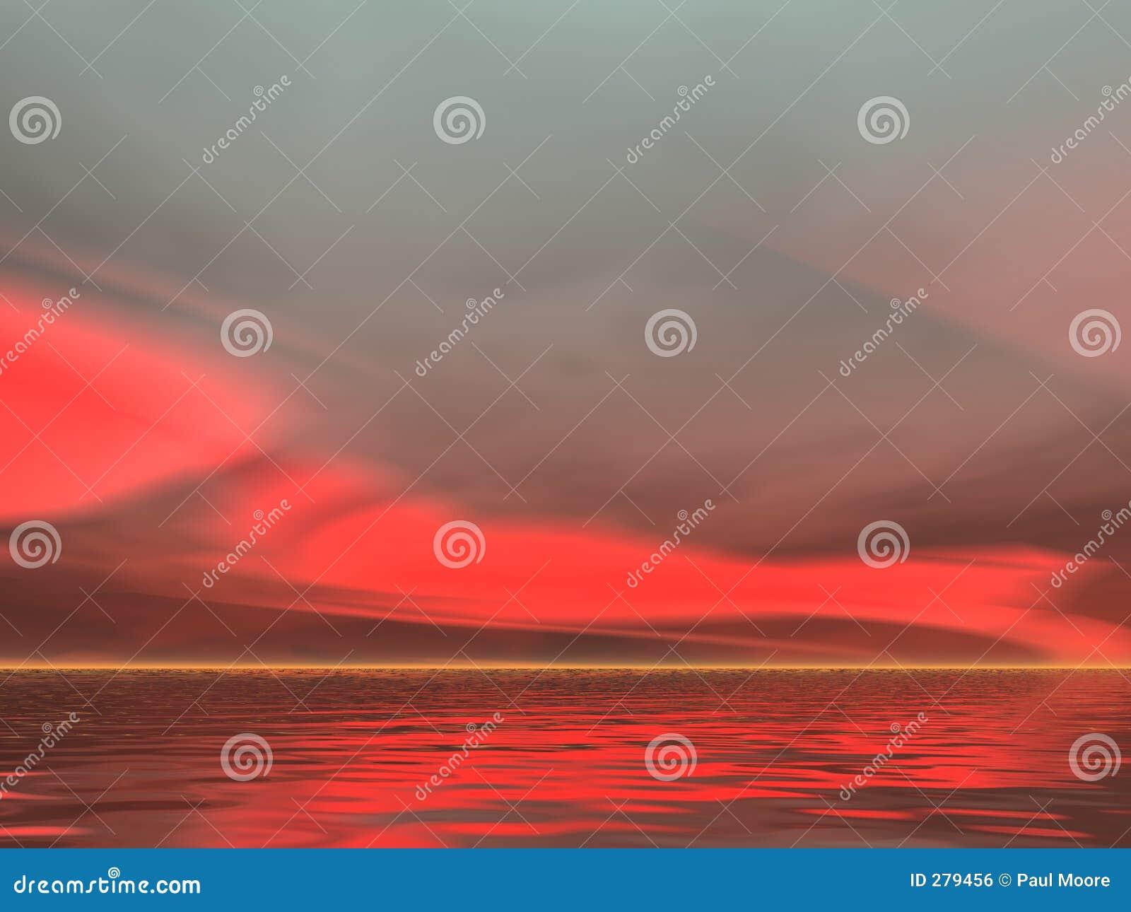 För red soluppgång allvarligt