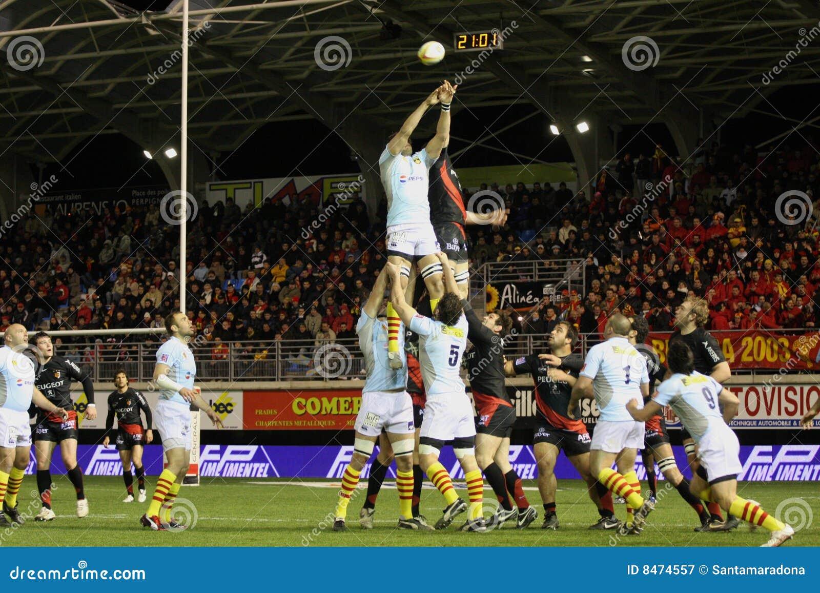 För rugbyöverkant för 14 match toulouse usap vs