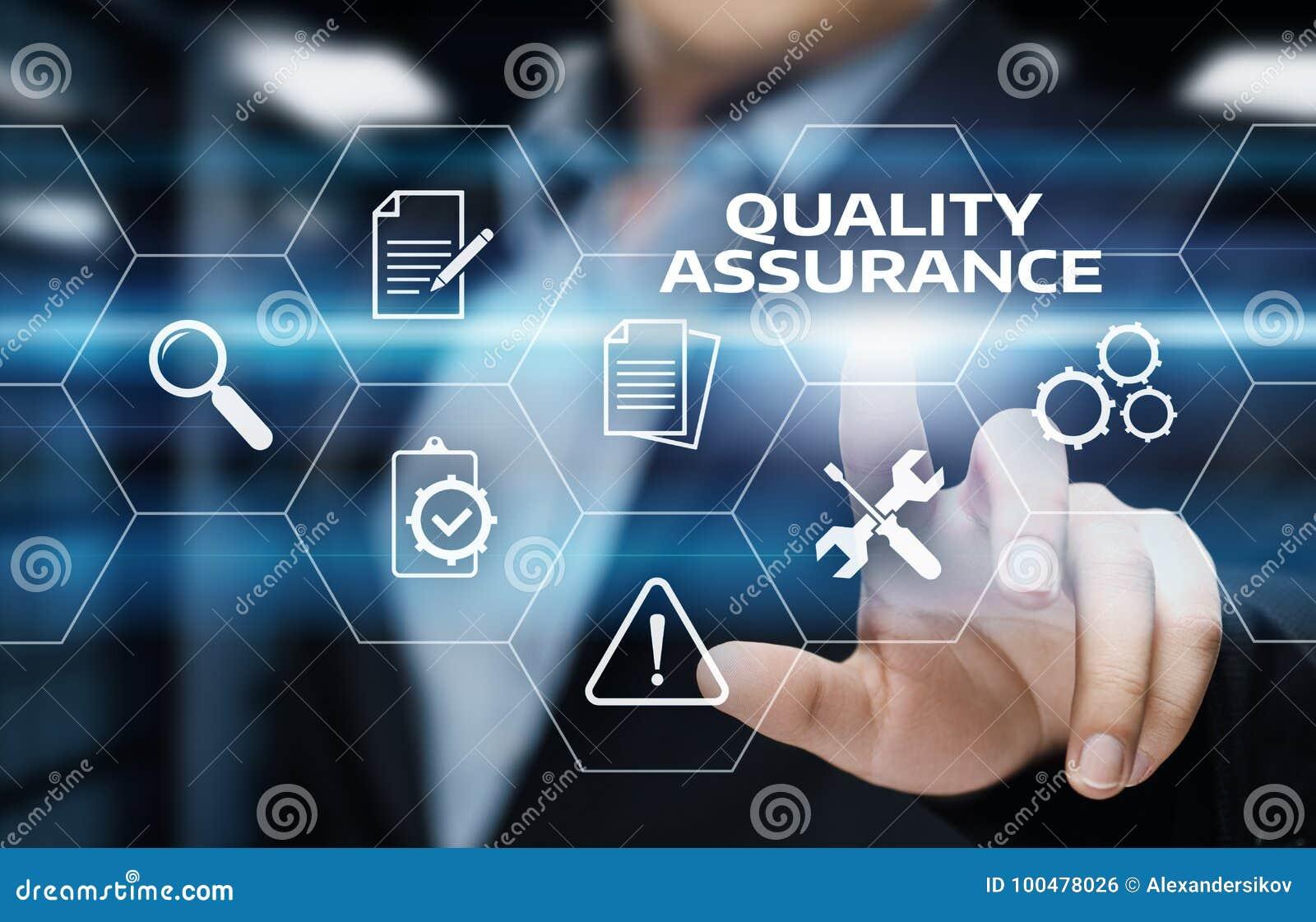 För servicegaranti för kvalitets- försäkring begrepp för teknologi för affär för internet standart