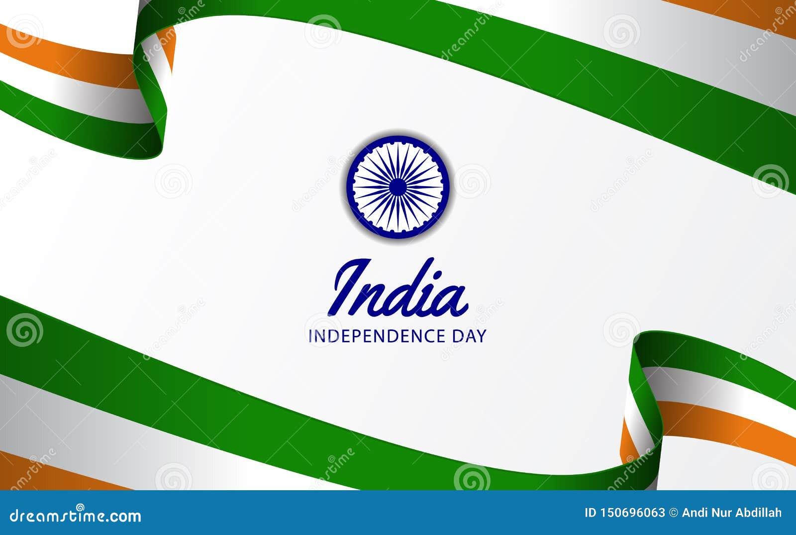 För självständighetsdagenband för 15 August India hindi våg för flagga
