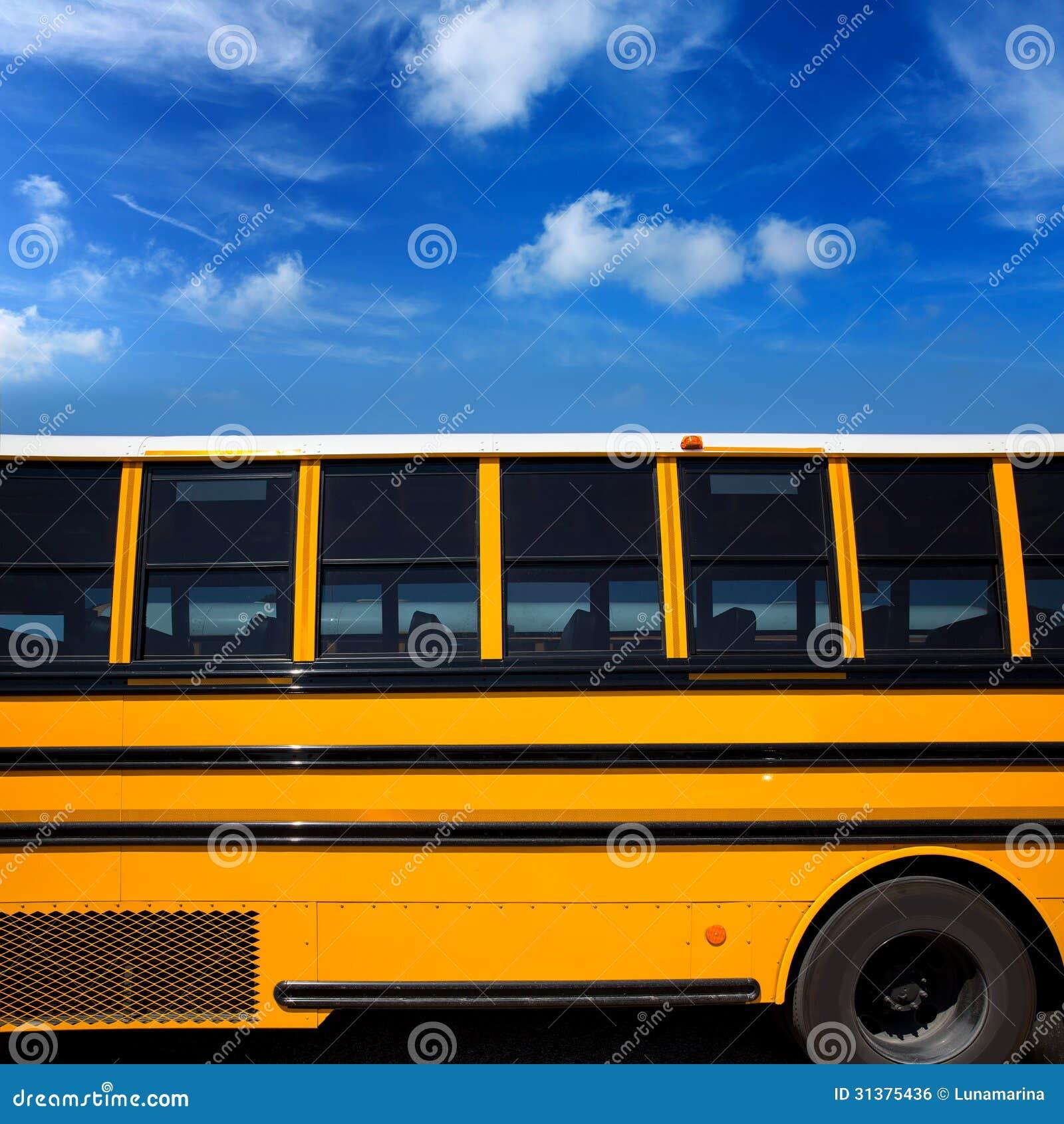 För skolbusssida för amerikan typisk sikt