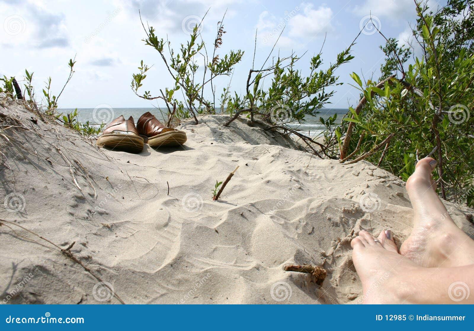 För skosommar för strand ii semester