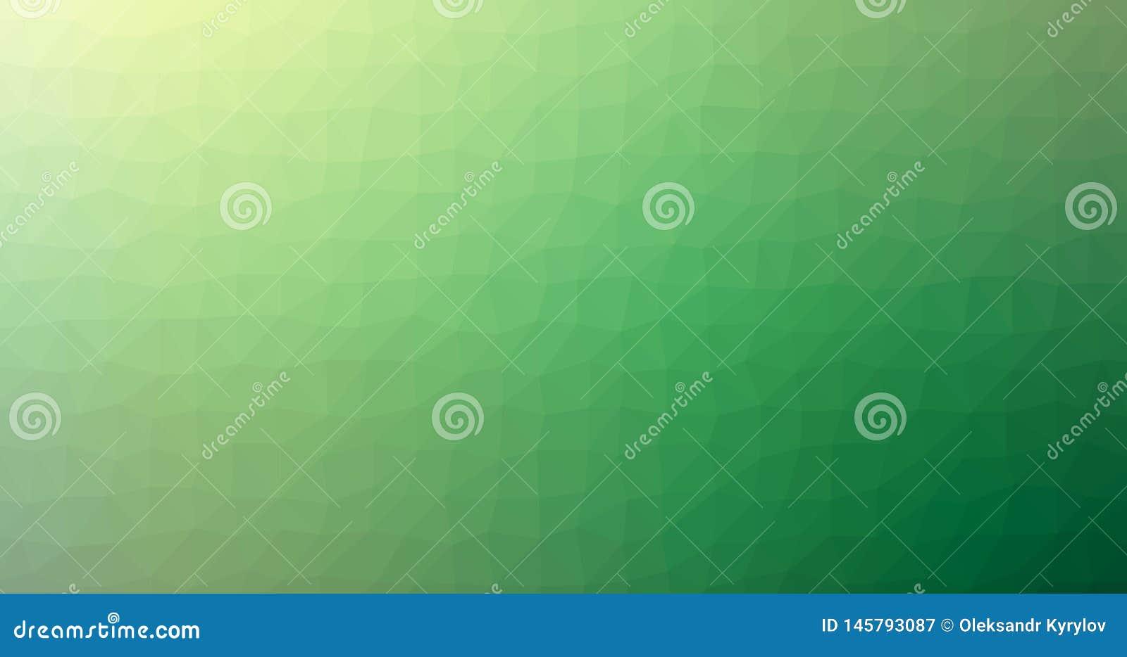 För Squareblur för grön lutning låg poly triangulär geometrisk Polygonal bakgrund för vektor för abstrakt begrepp exponeringsglas
