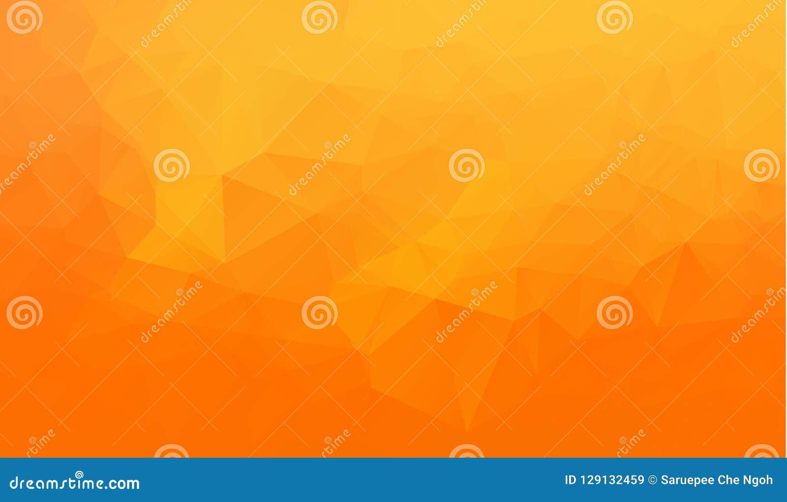 För stilvektor för apelsin abstrakt geometrisk rufsad till triangulär låg poly bakgrund för diagram för illustration