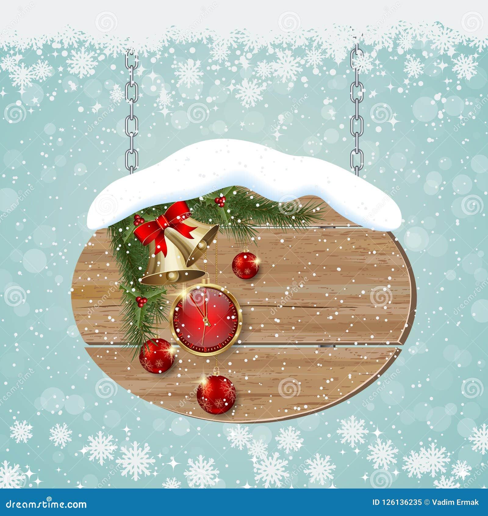 För stilvektor för jul och för nytt år retro bakgrund