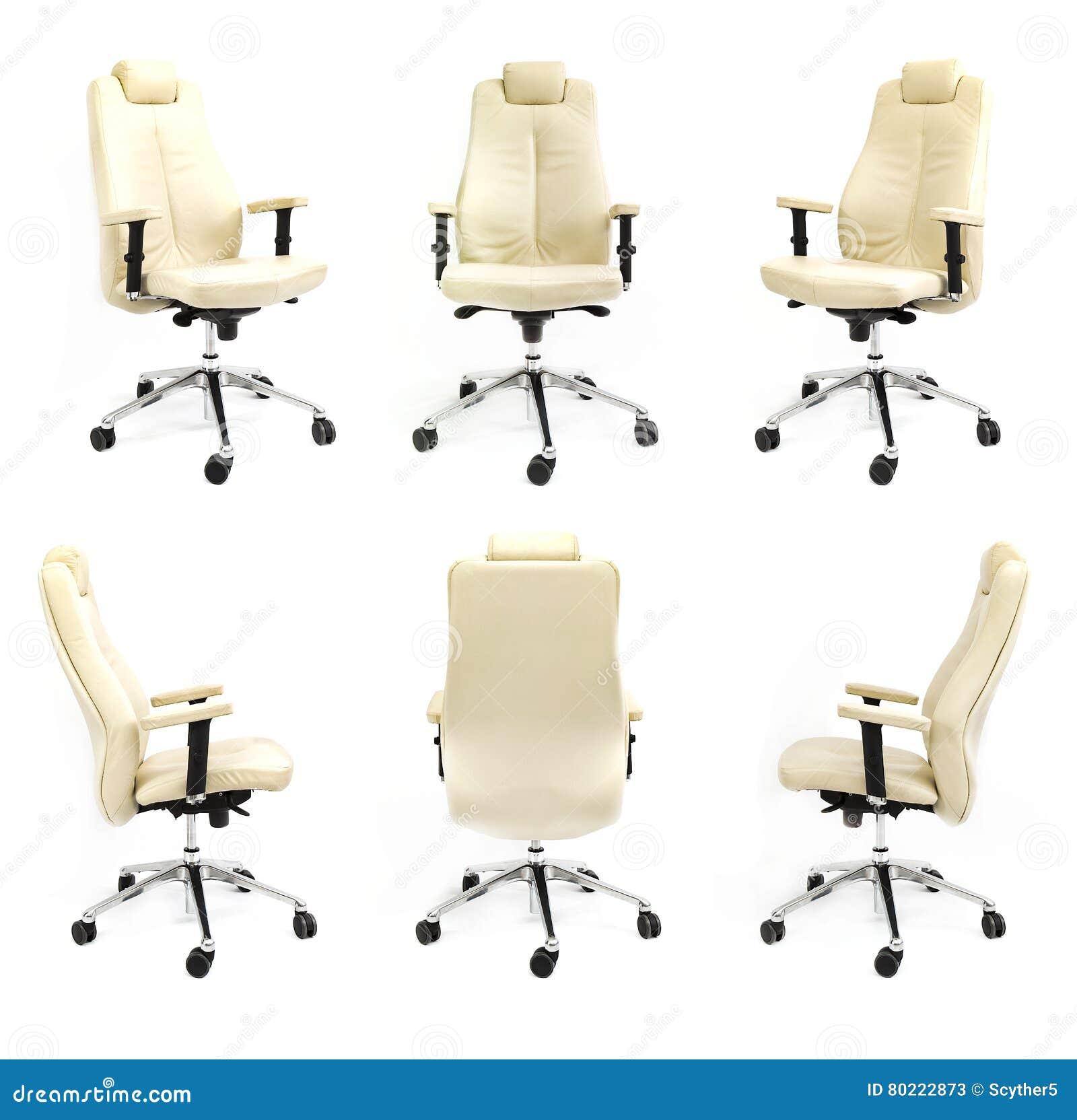 För stol samling för bakgrund för främre sida tillbaka vit