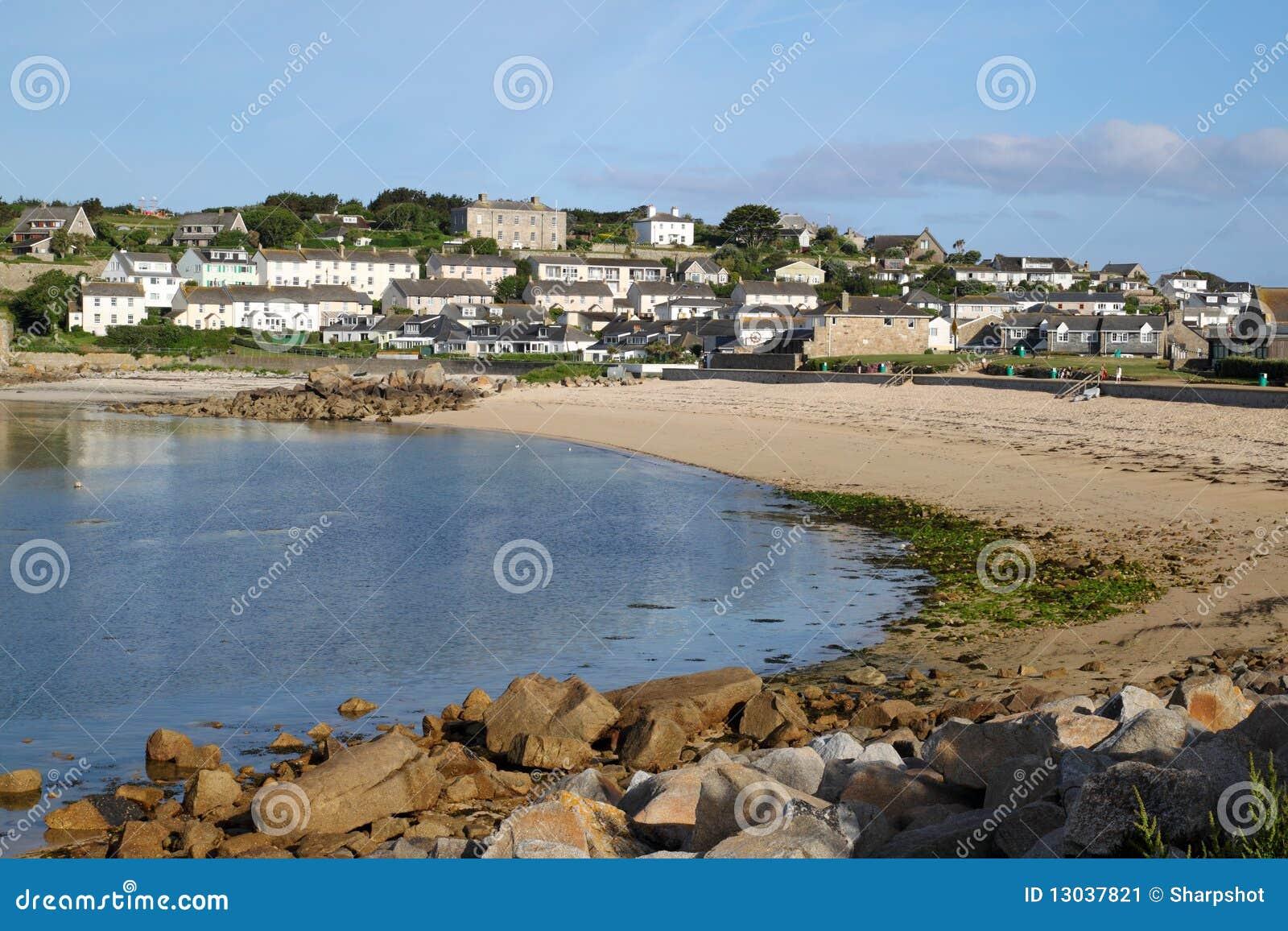 För strandhugh isles för porthcressa town scilly