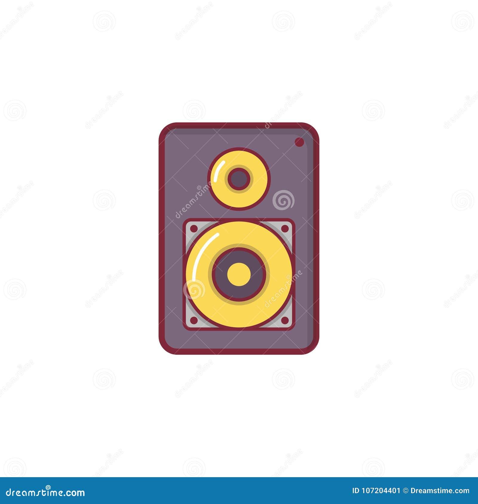 För symbolsillustration för musik plan design för beståndsdel