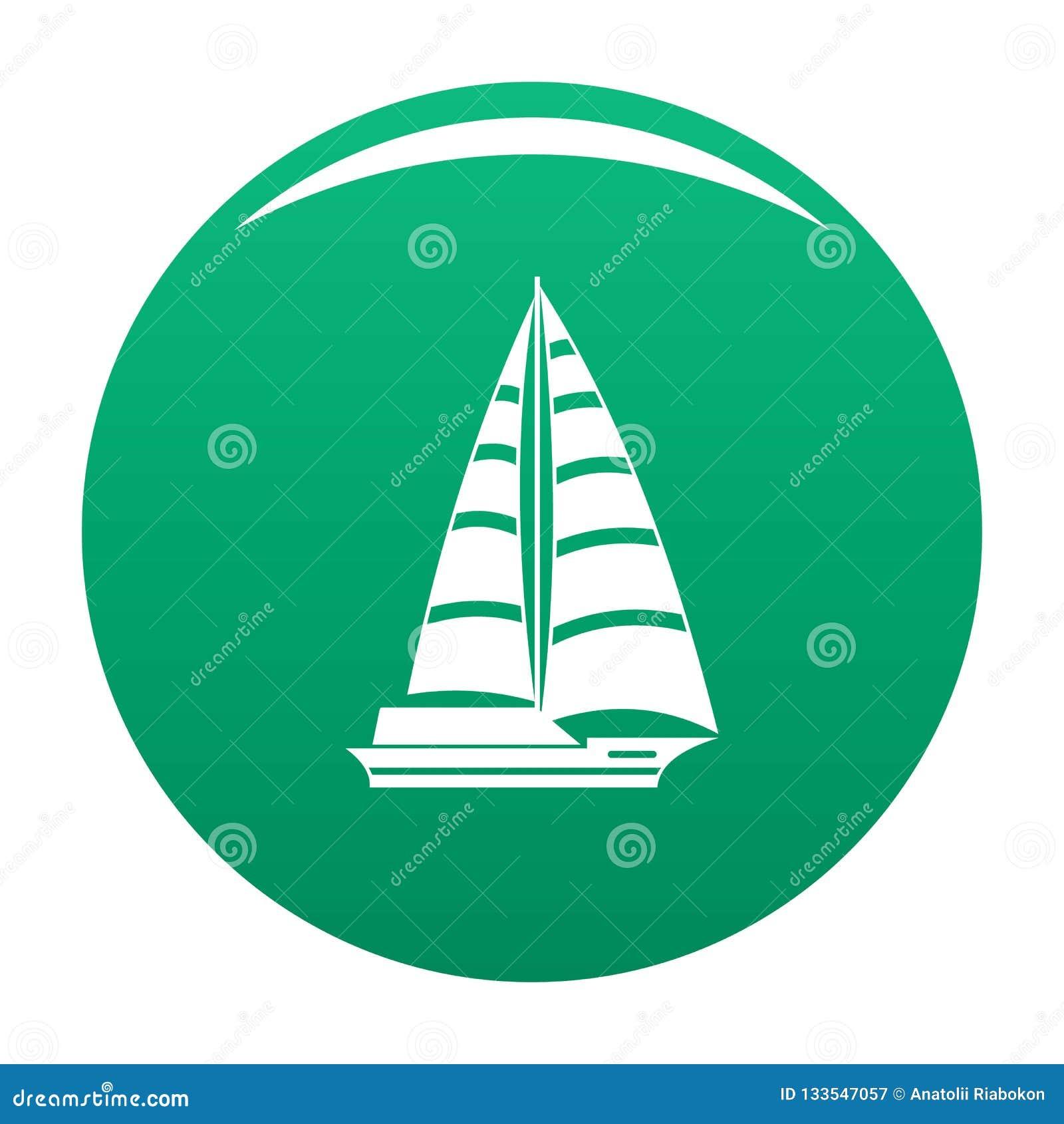 För symbolsvektor för yacht modern gräsplan