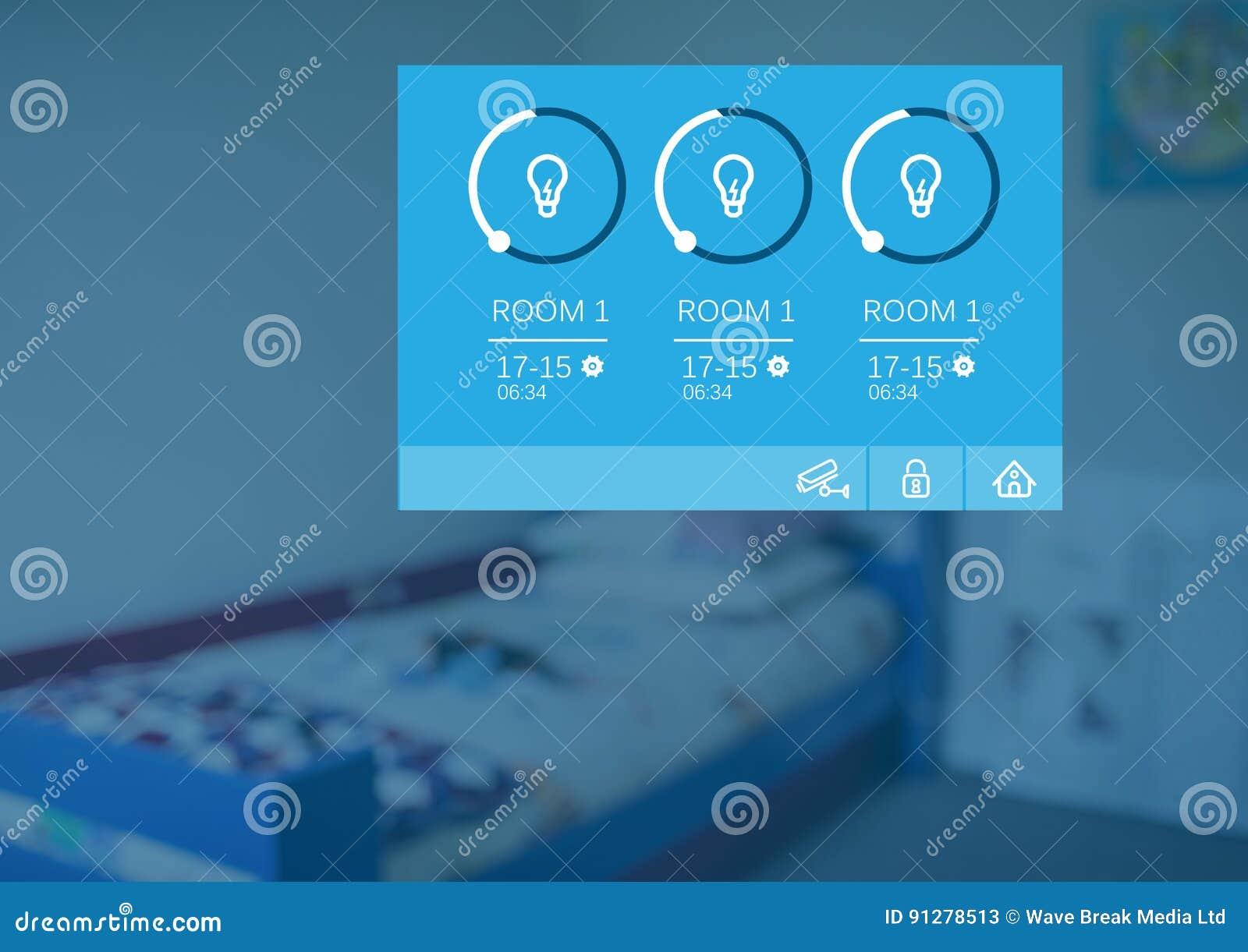 För systemljus för hem- automation manöverenhet för App