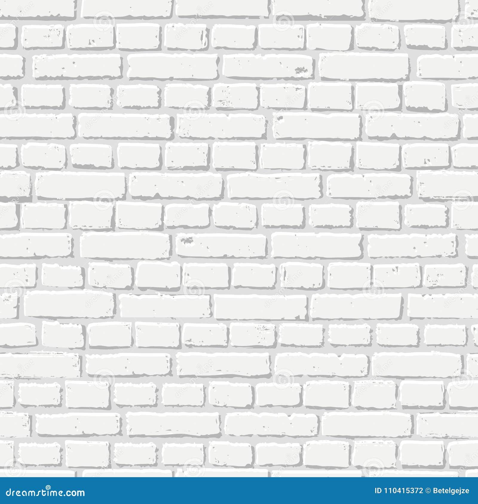 För tegelstenvägg för vektor vit sömlös textur Abstrakt arkitektur- och vindinre, bakgrund