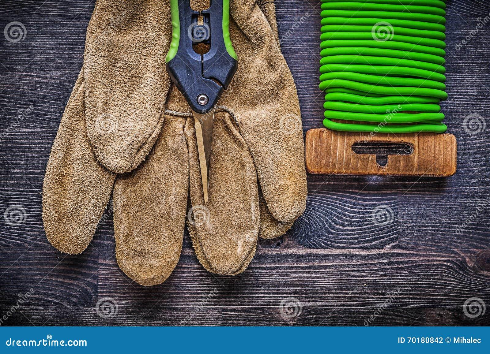 För trådband för trädgårds- pruner mjuka skyddande handskar på trätappning