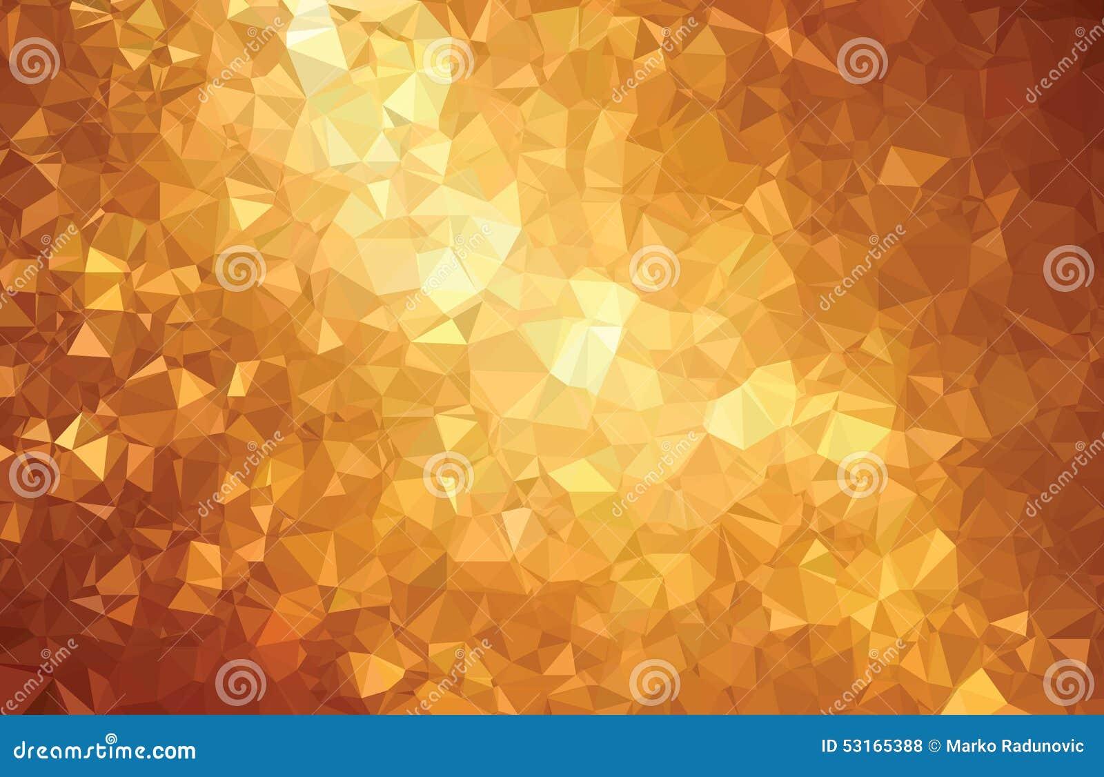 För triangelgeometri för bakgrund guld- linje för abstrakt modell