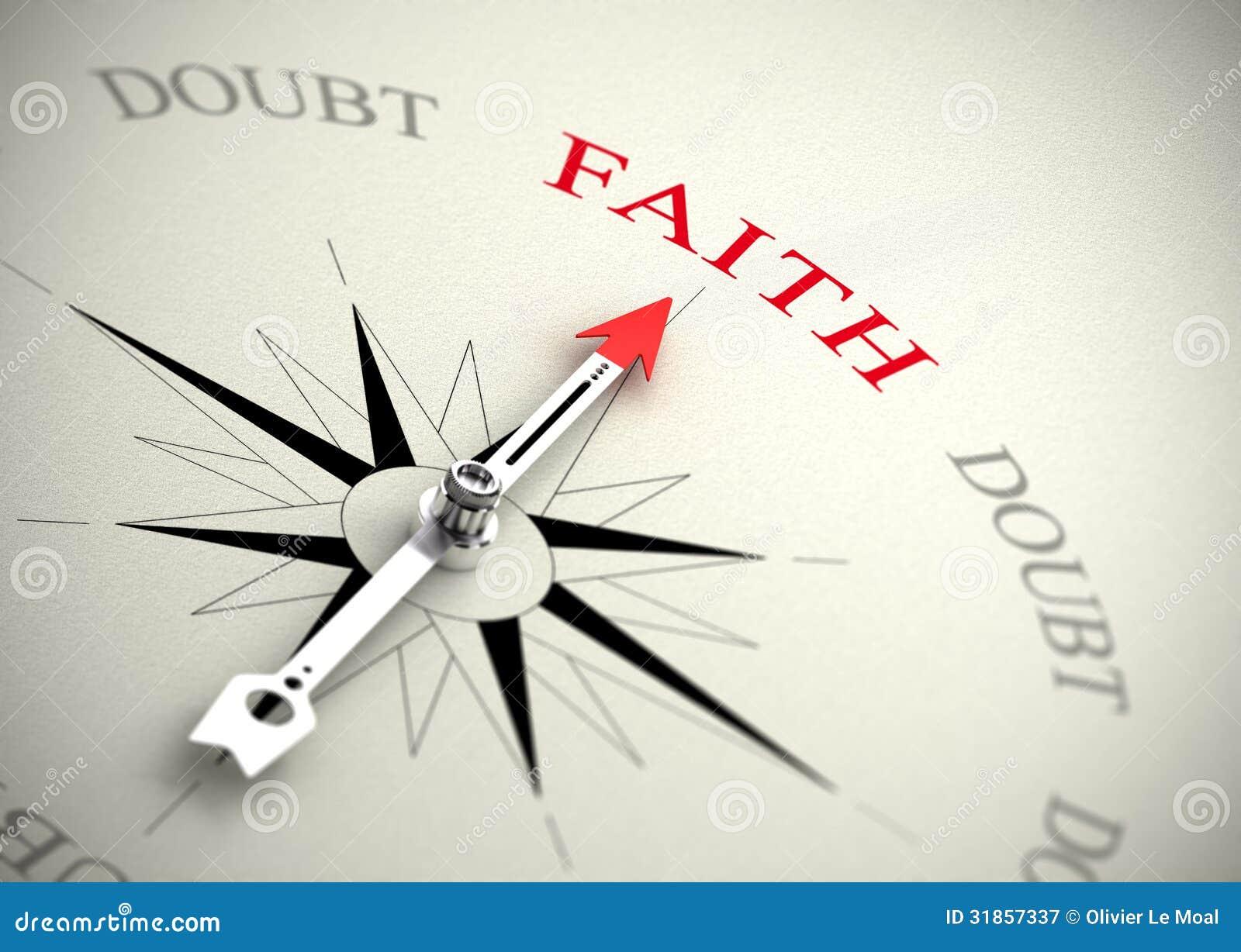 För tro tvivel kontra, religion eller förtroendebegrepp
