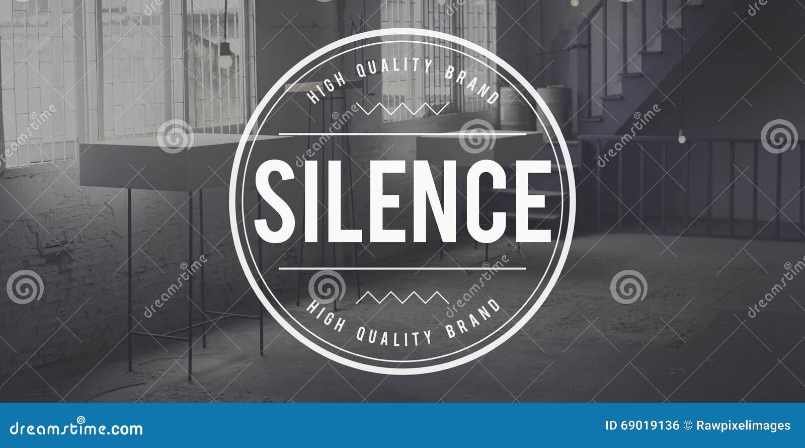 För tystnad fridsamt stillsamt för Quietness tyst begrepp fortfarande