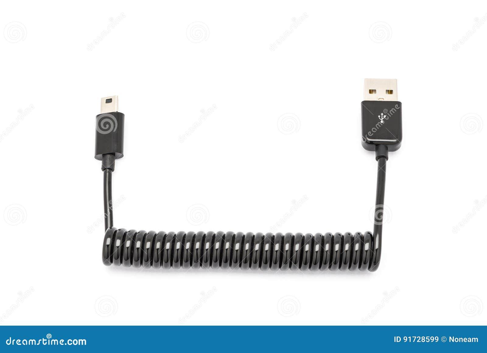 För USB för svart vår utsträckbar mini- kabel för uppladdare för synkronisering data