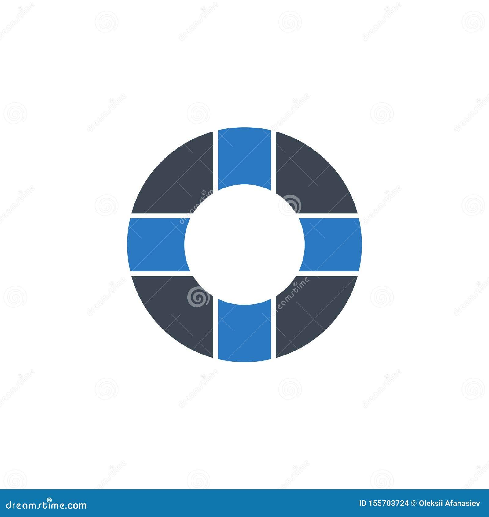 För vektorskåra för livboj släkt symbol