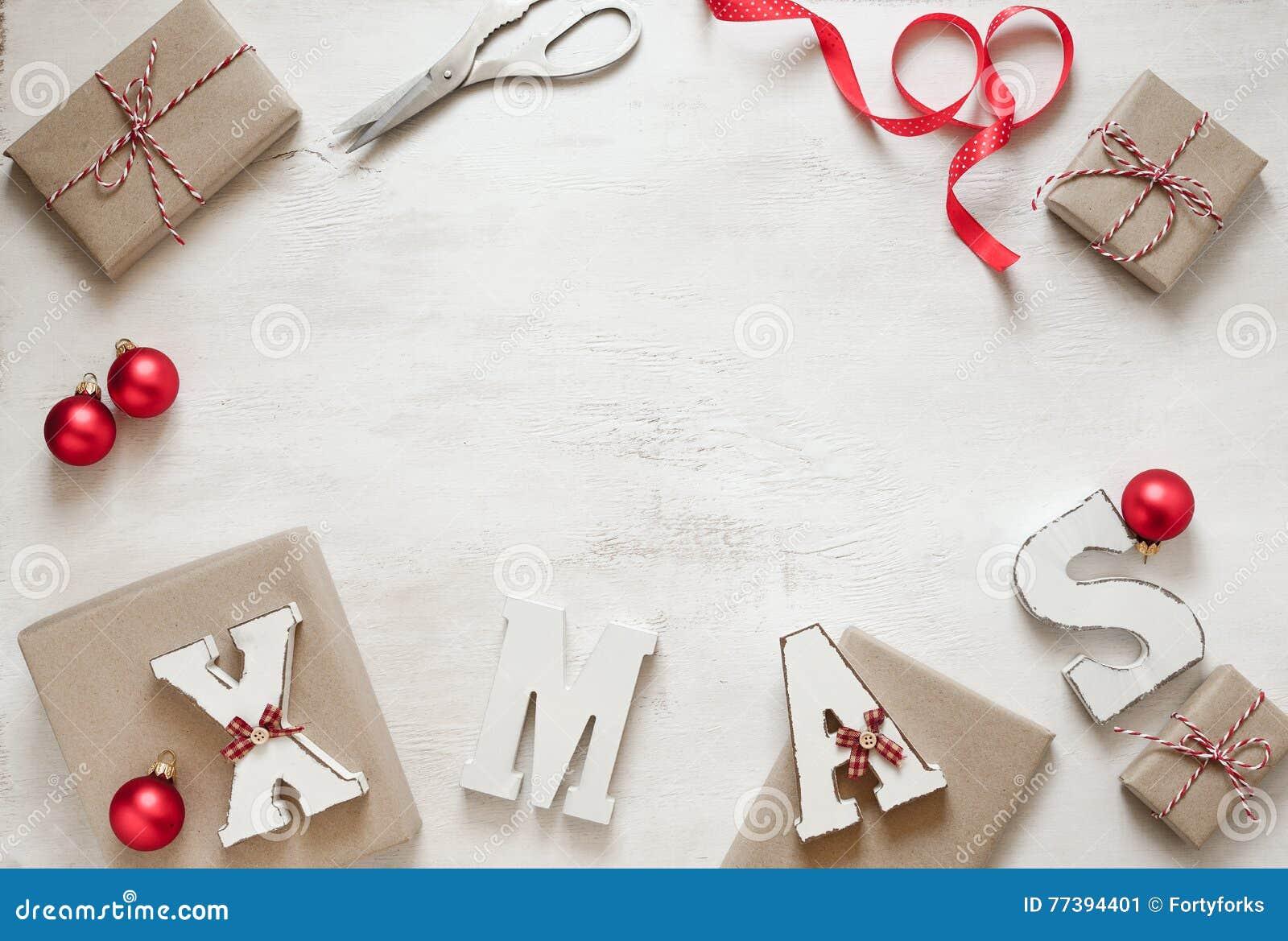 Förbereda gåvor för julbakgrund