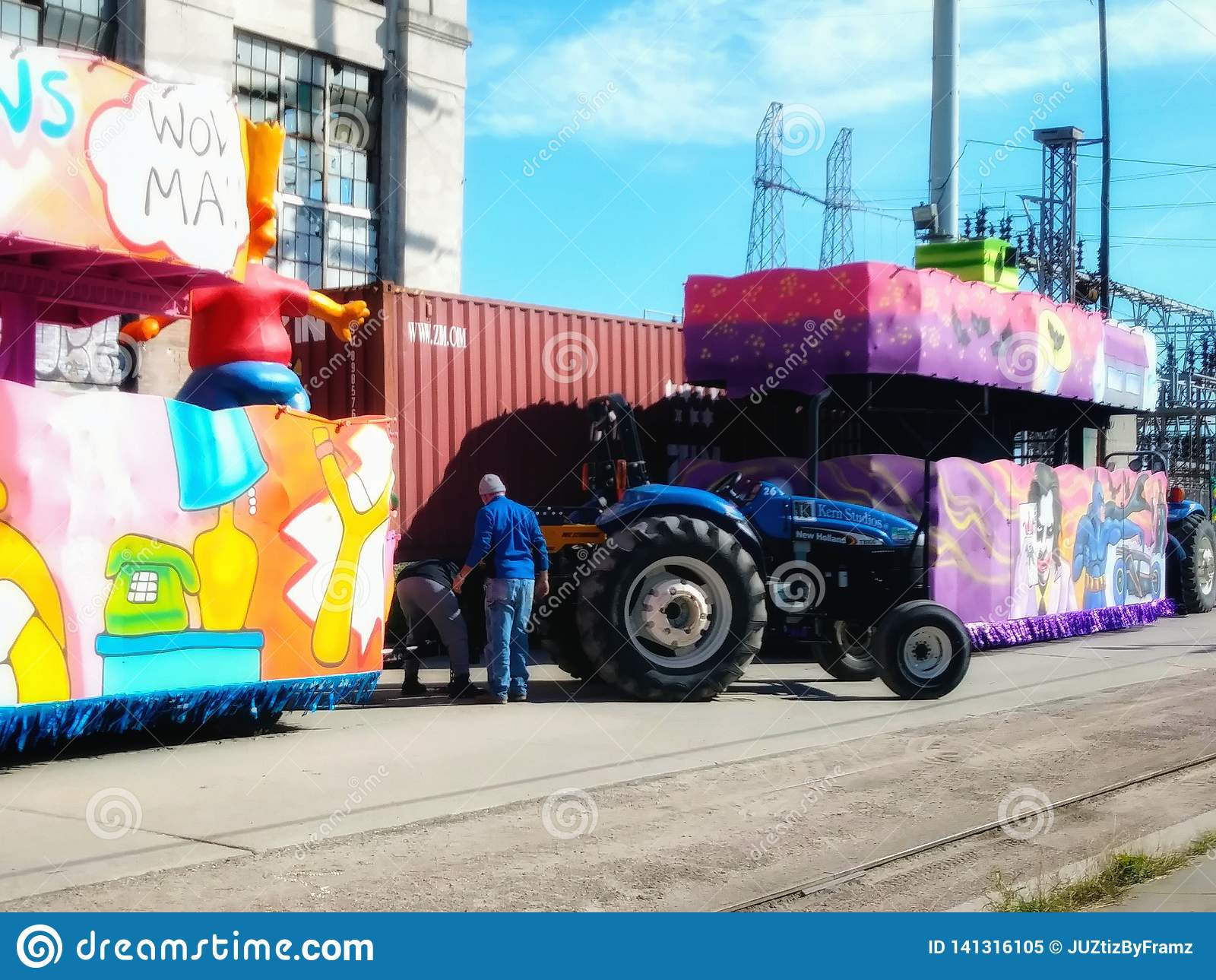 Förbereda sig för Mardi Gras New Orleans Louisiana 2019