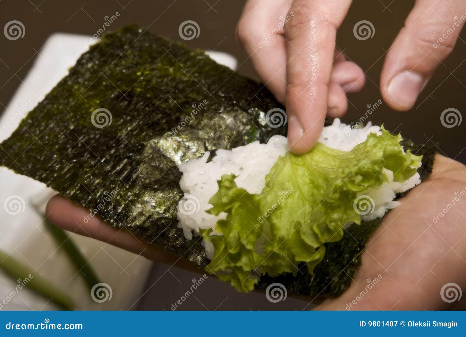 Förbereder japanskt kök för kocken susi