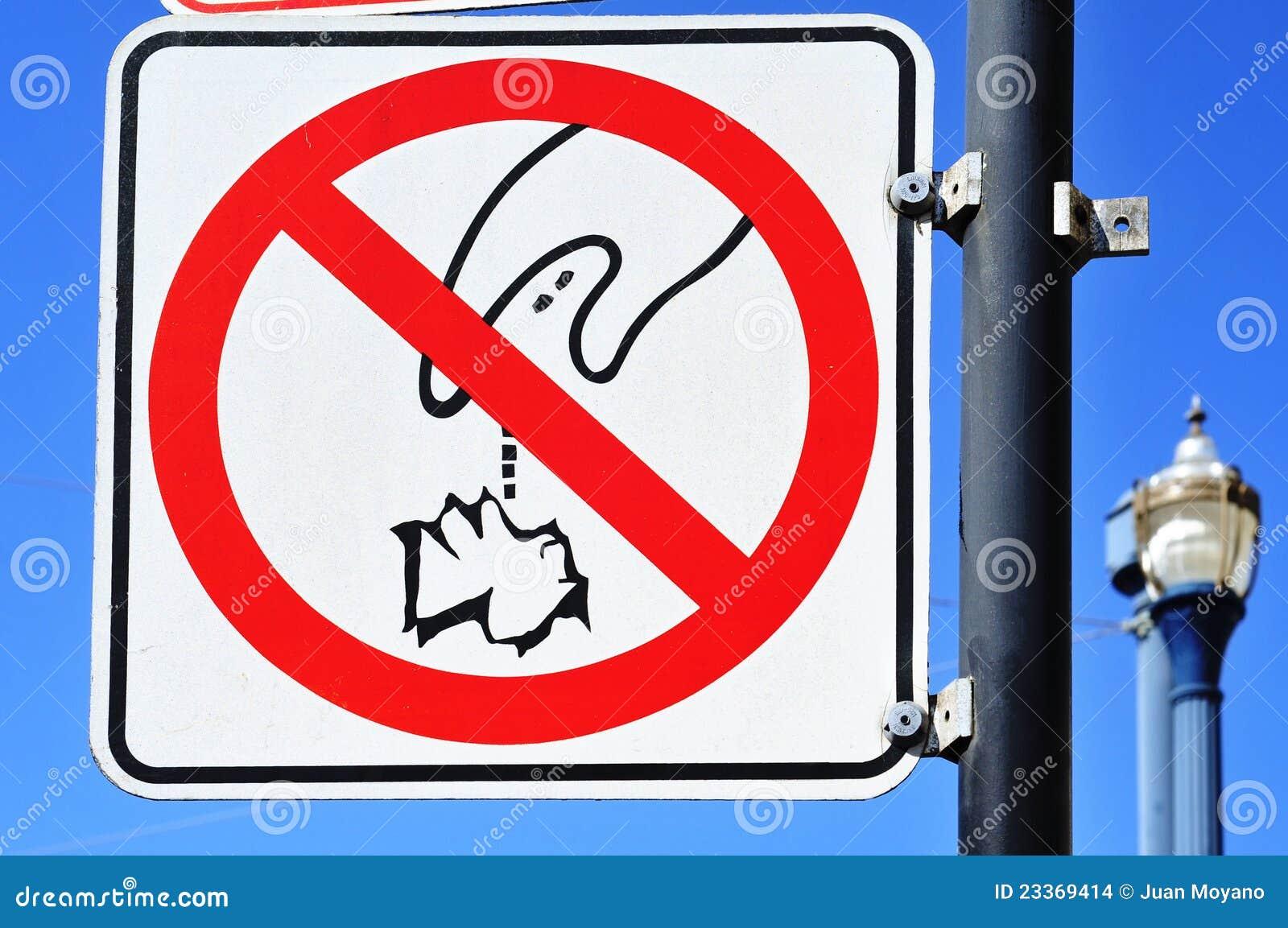 Förbjuden signalering för skräpa ner