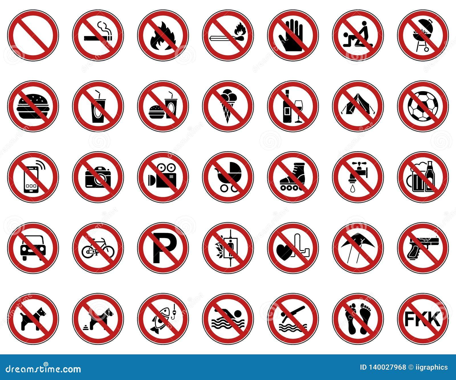 35 förbud- & varningstecken - Iconset