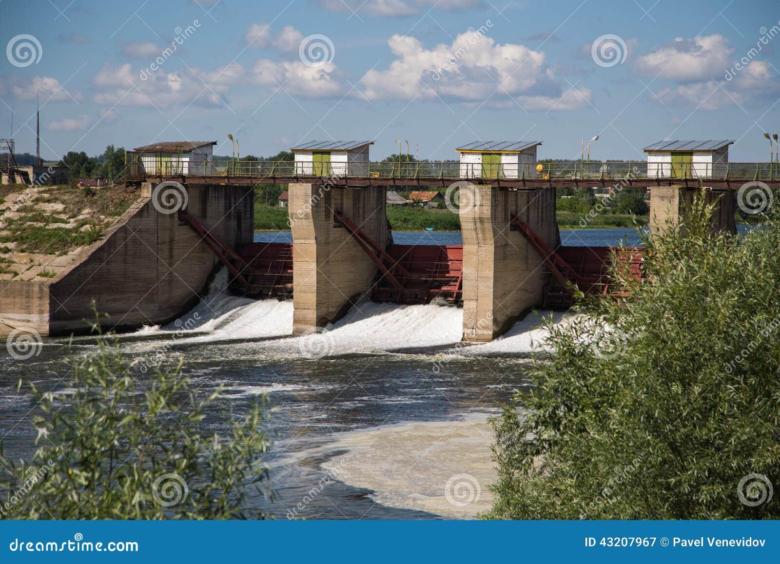 Download Fördämning På Floden Alatyr Fotografering för Bildbyråer - Bild av liggande, metall: 43207967