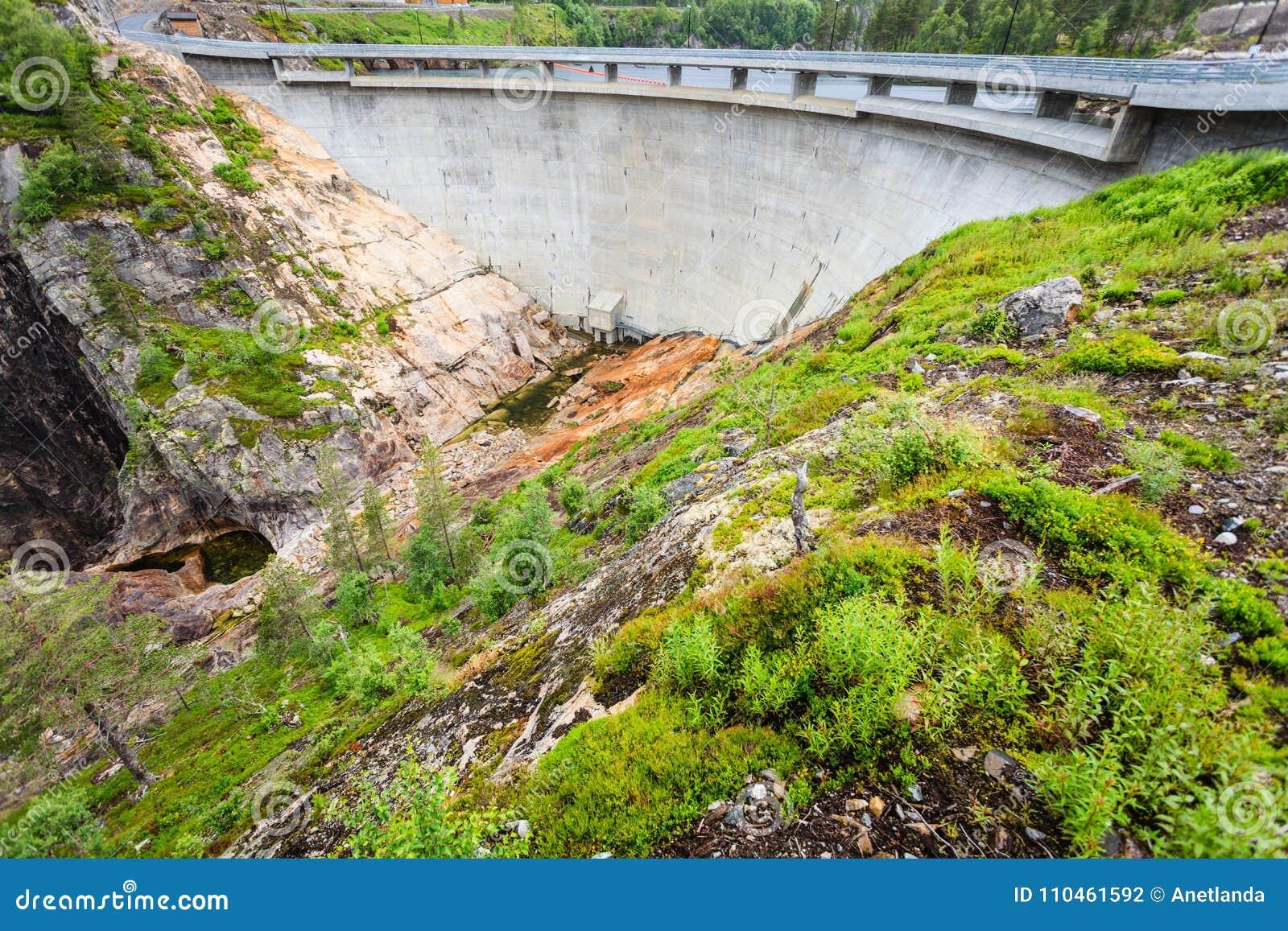 Fördämning Sarvfossen i Norge