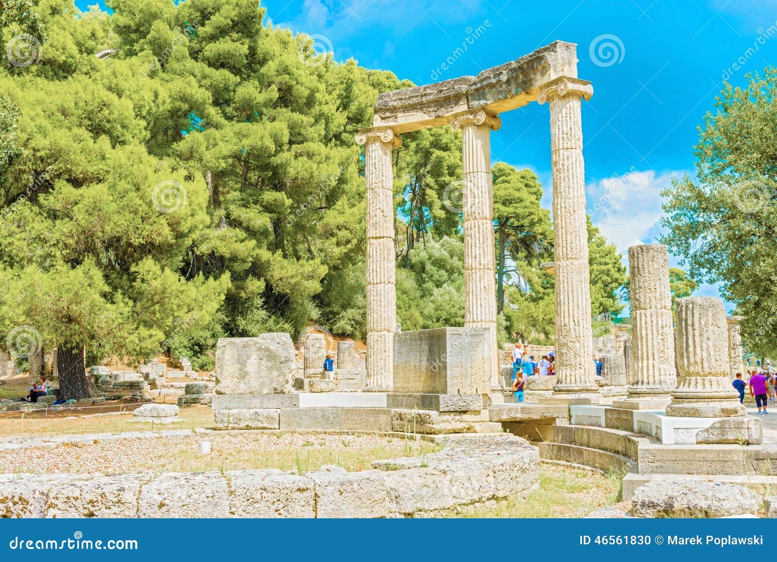 Fördärva av Philipps tempel i Olympia, Grekland