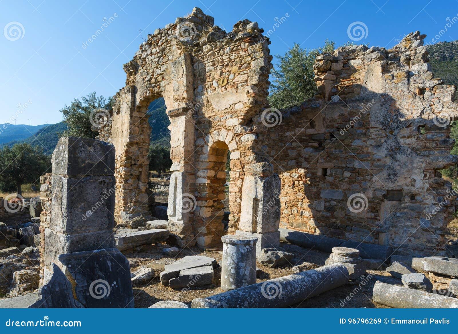 Fördärvar av en tidiga Christian Temple