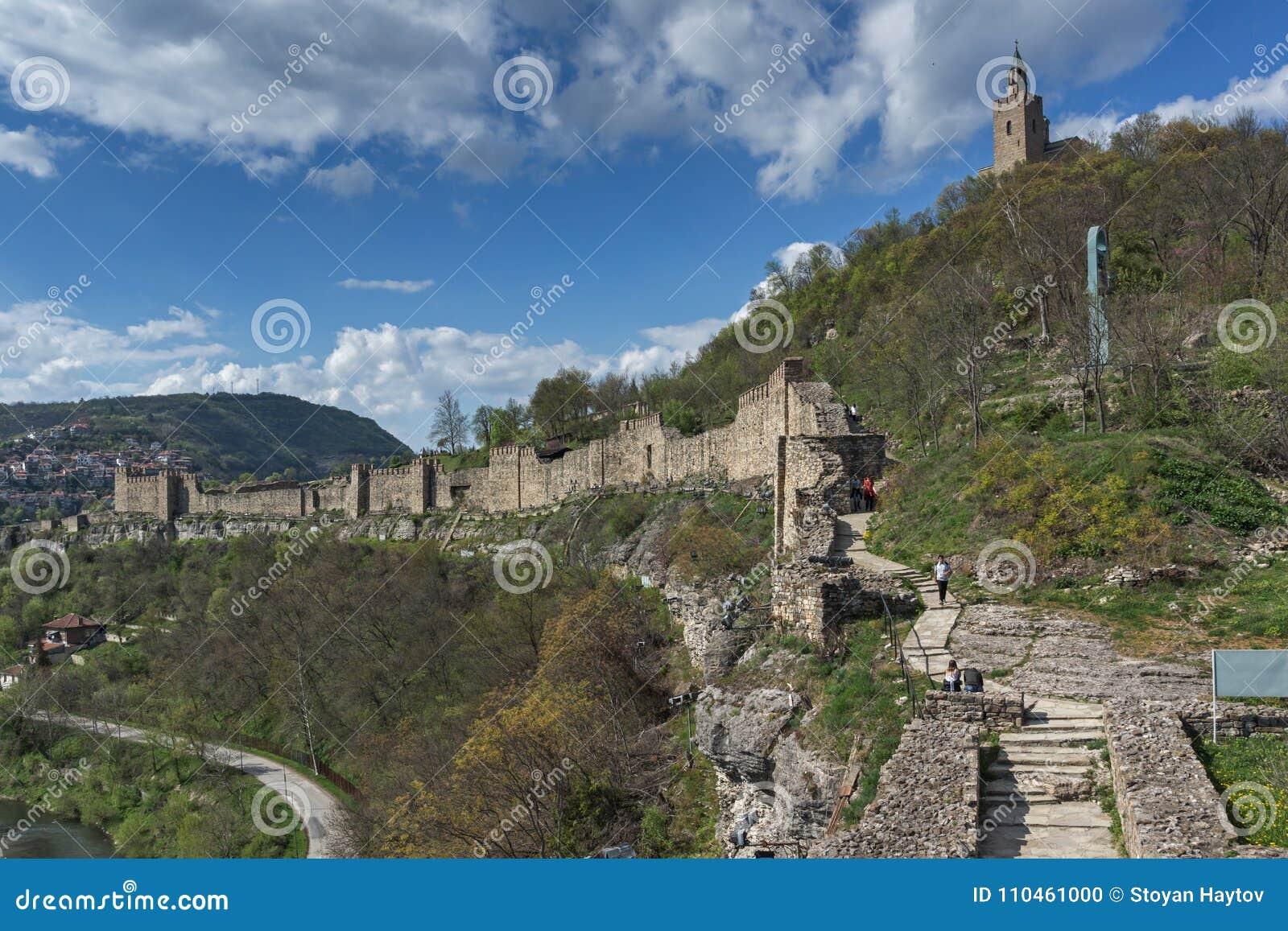 Fördärvar av huvudstaden av det medeltida fästet Tsarevets, V för andra bulgariska välde
