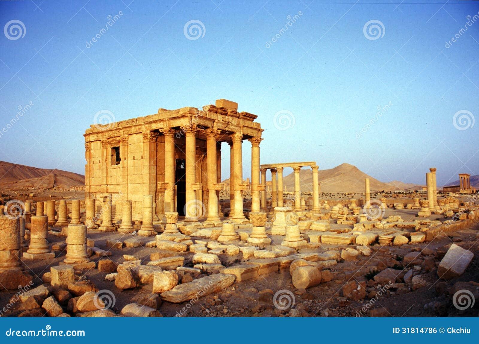 Fördärvar av Palmyra i Syrien