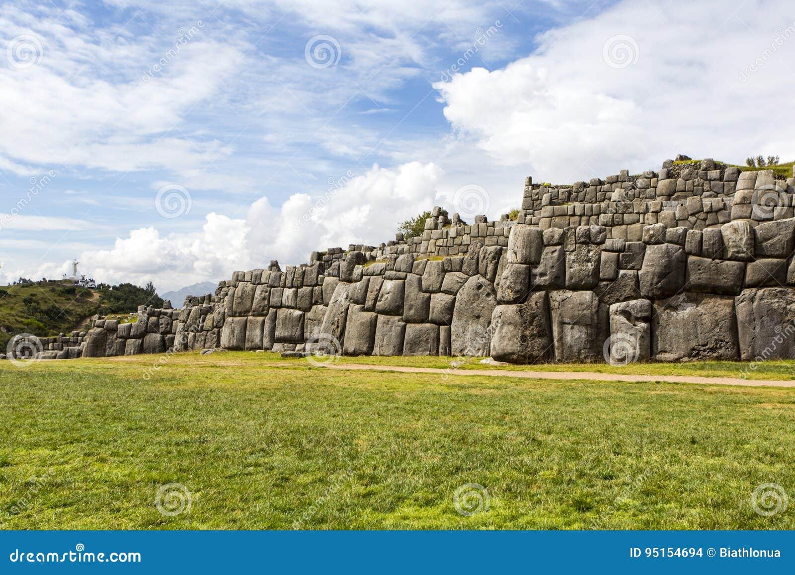 Fördärvar av Saksaywaman, Cusco, Peru