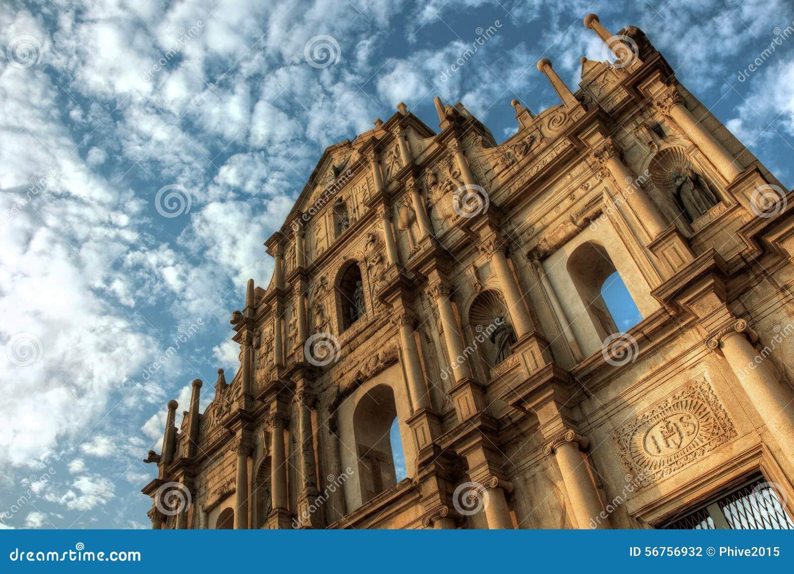 Fördärvar av Sao Paolo Macau
