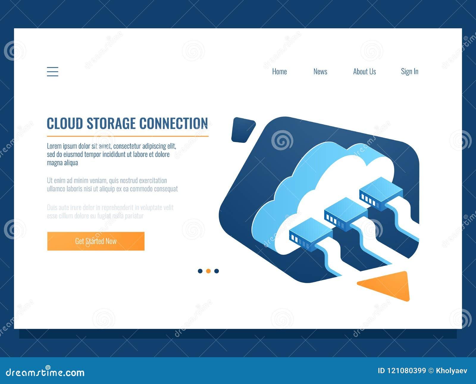 Fördunkla datalagring, avlägsen teknologi som knyter kontakt anslutning, mappaktietillträde för lag, serverrum och datacenter
